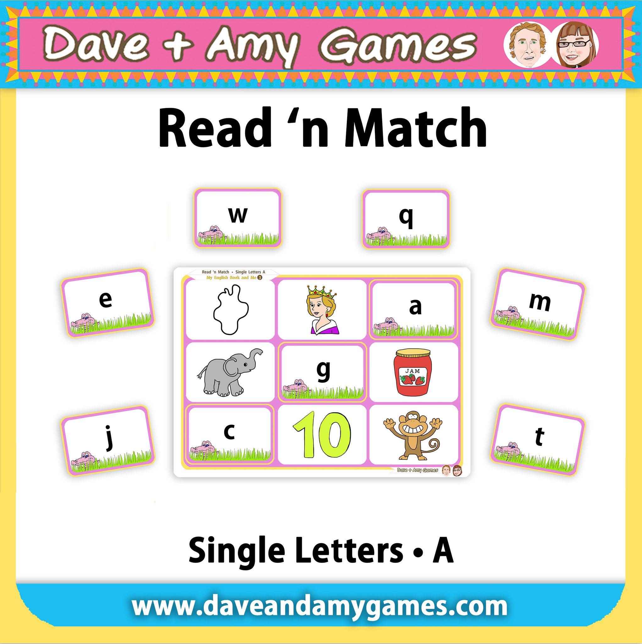 Read 'n Match (4 ABC Phonics Levels)