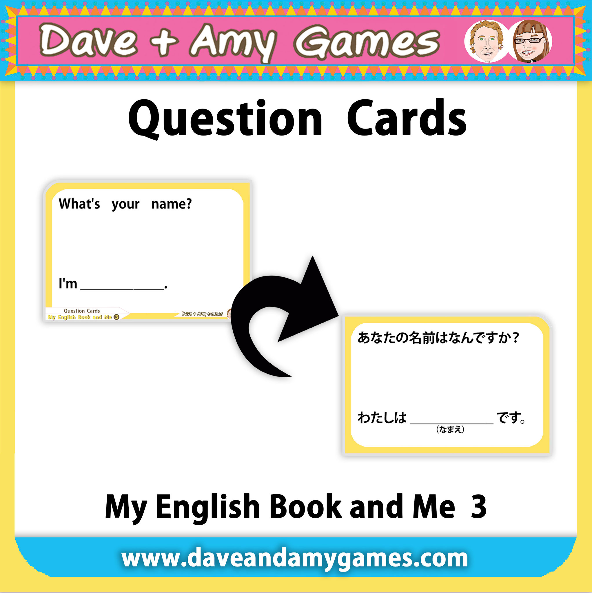 Question Cards: with Japanese on back