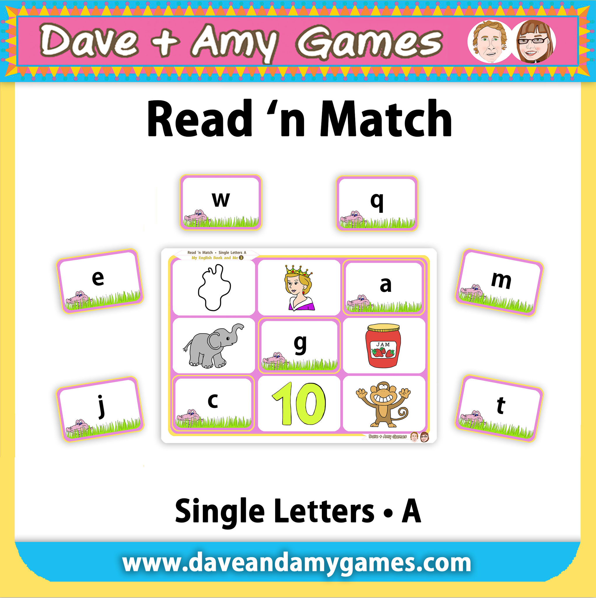 Read 'n Match (4 ABC Phonics Levels)