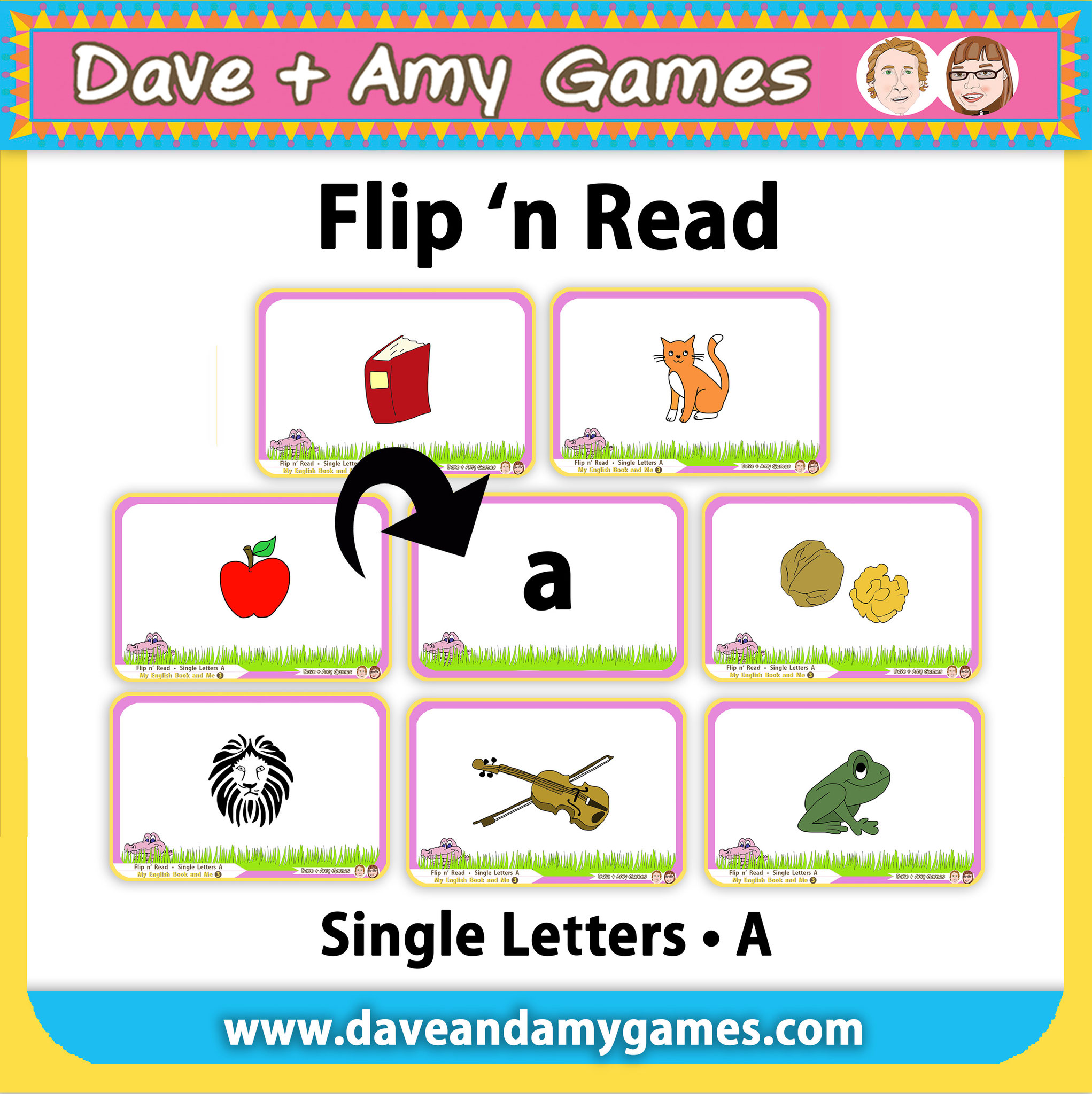 Flip 'n Read (3 ABC Phonics levels = 24 games total)