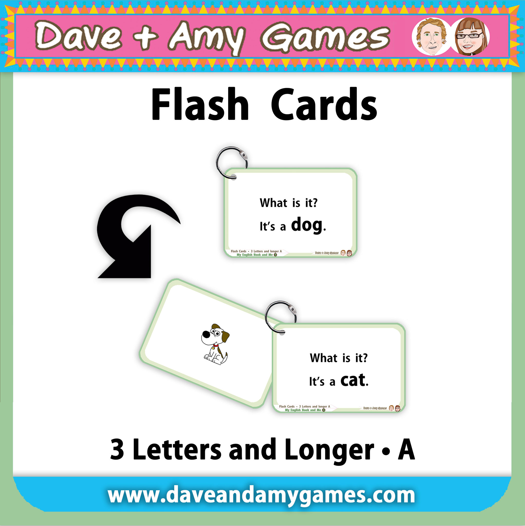 Flashcards CVC Phonics A