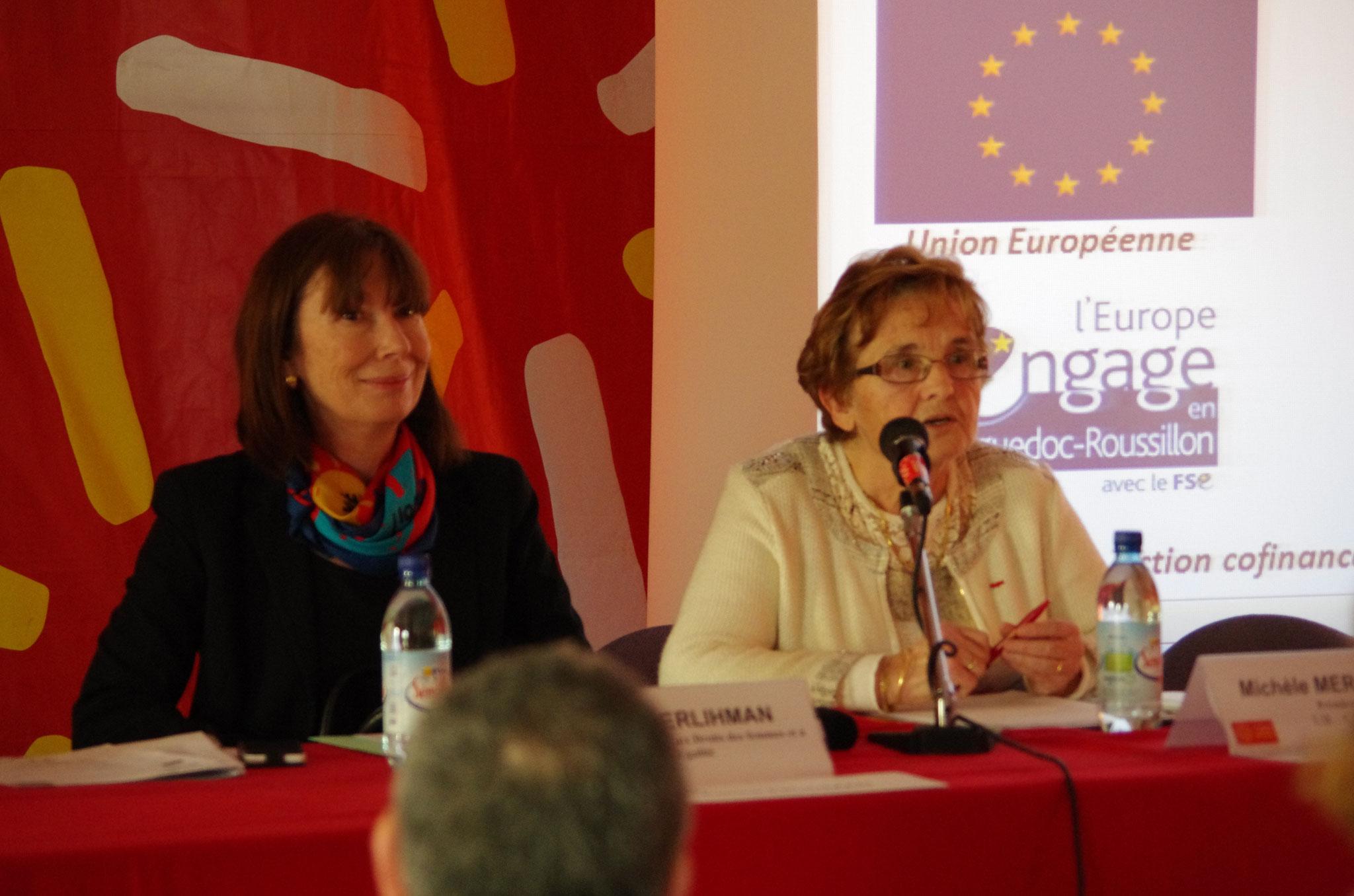 la Présidente de l'UR-CIDFF et la Déléguée Régionale aux Droits des Femmes et à l'Egalité