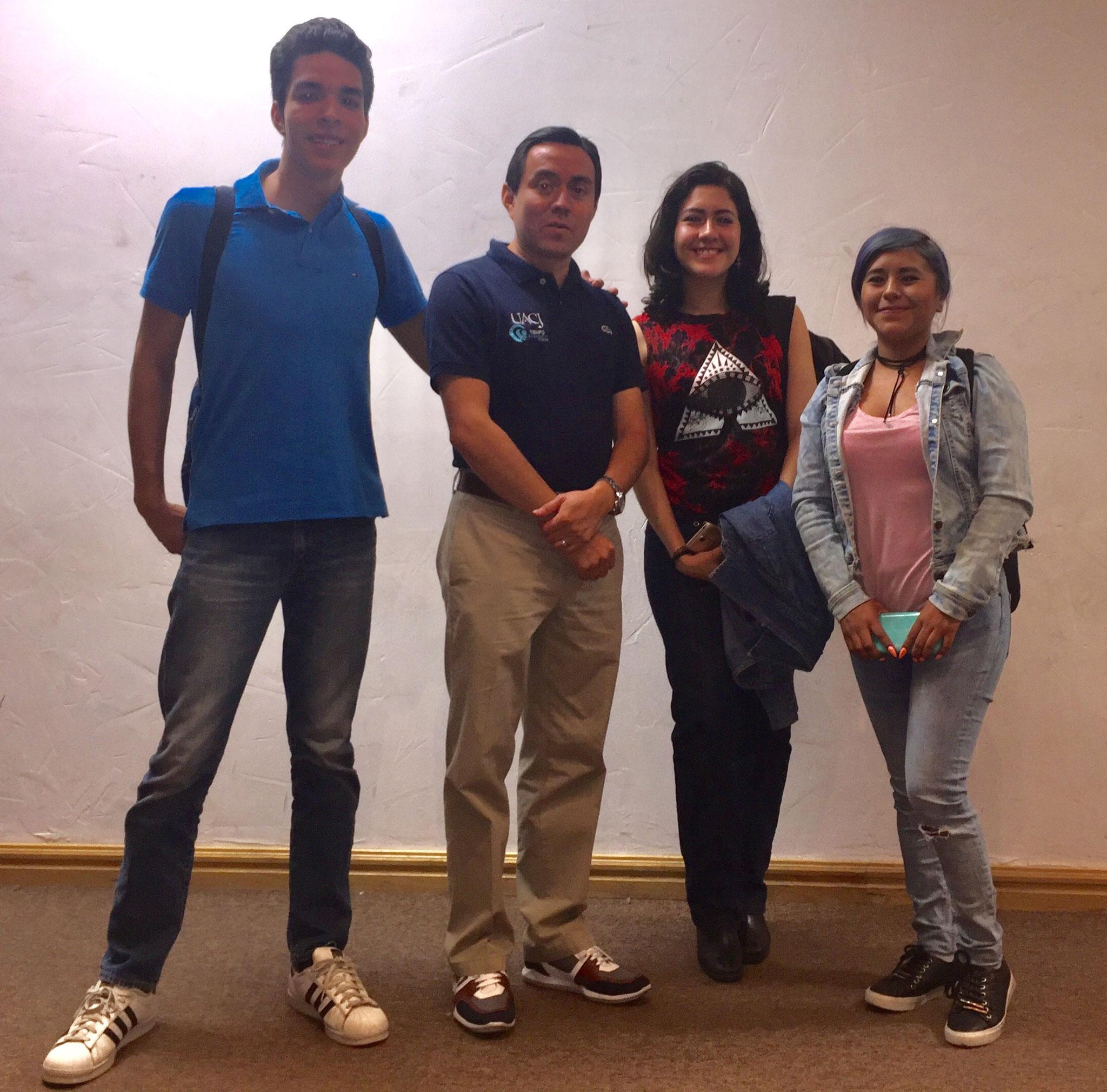 En la UACH con estudiantes, agosto 2017.