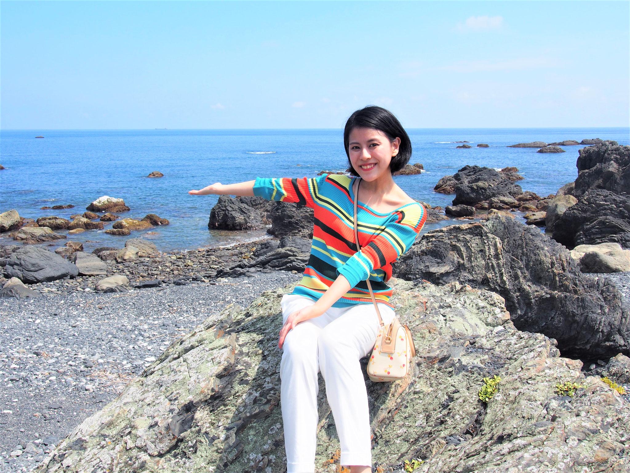 室戸岬海岸  🌊海が青い!