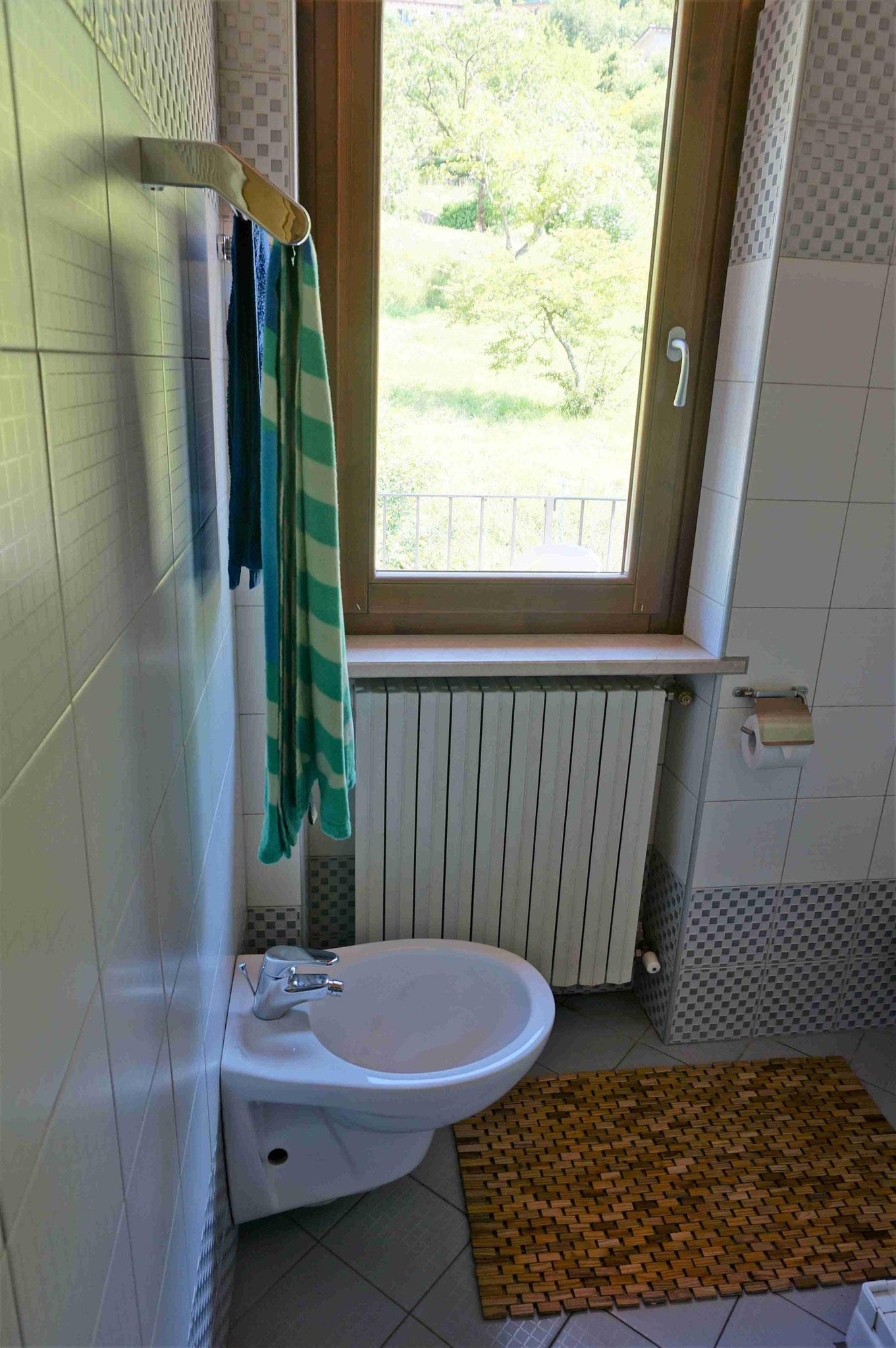 Appartement20 - Bad mit Fenster zum hinteren Balkon