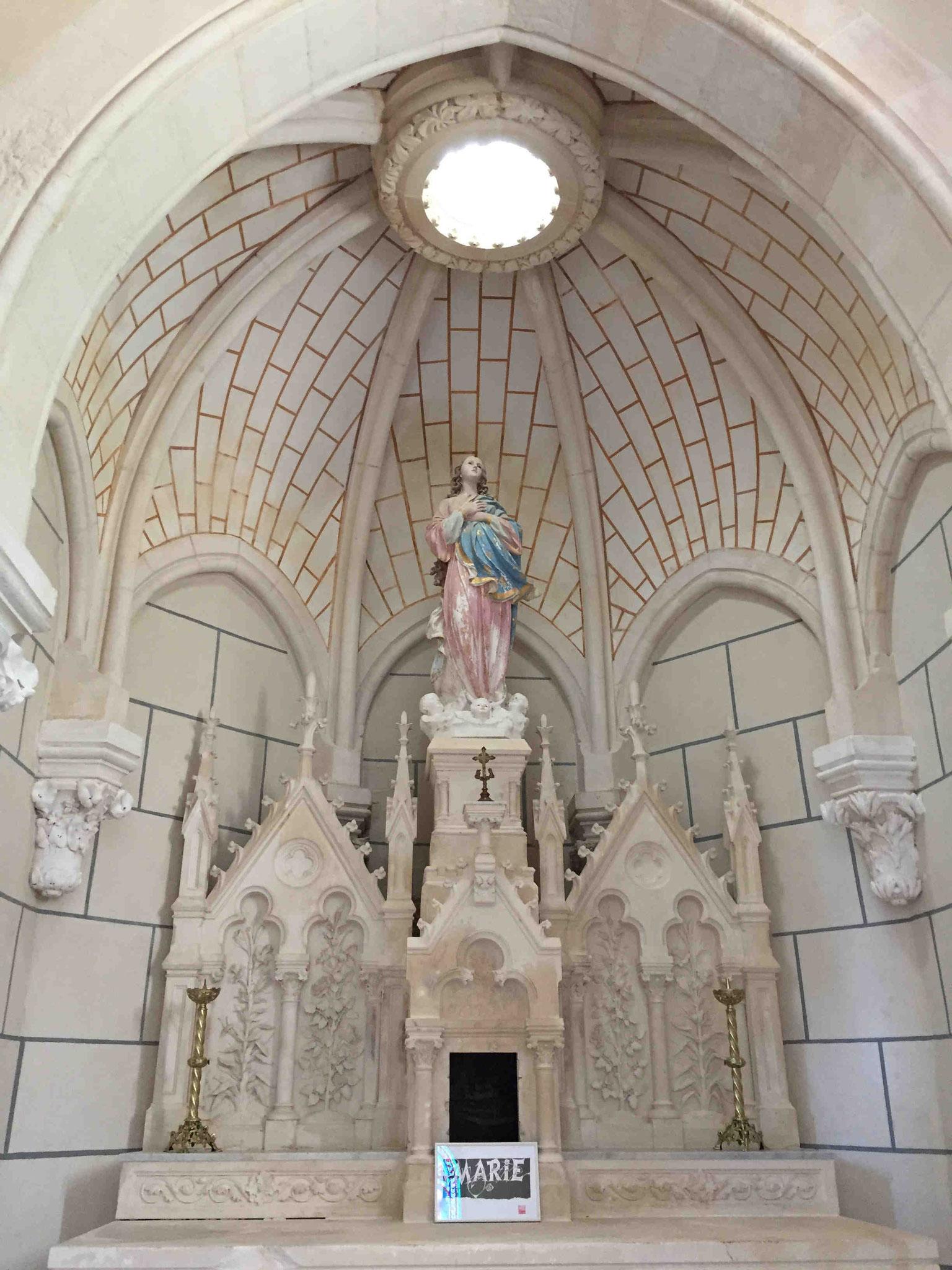 Basilique Saint Benoit Joseph Labre, Chapelle de la Vierge, Marçay.