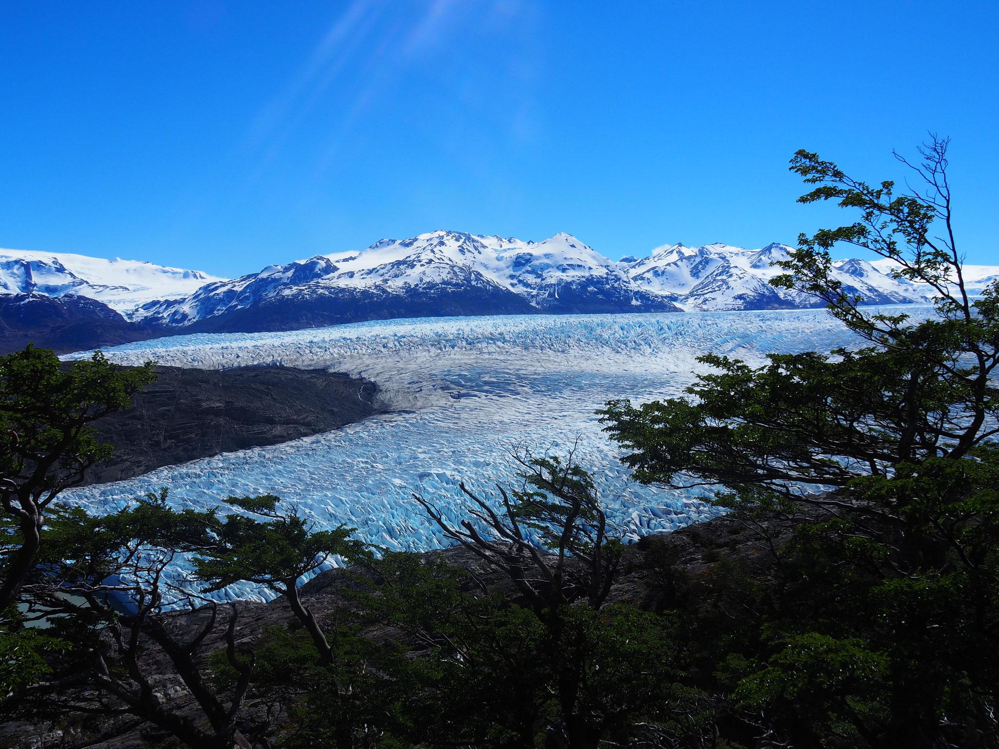 Der Glaciar Grey von oben