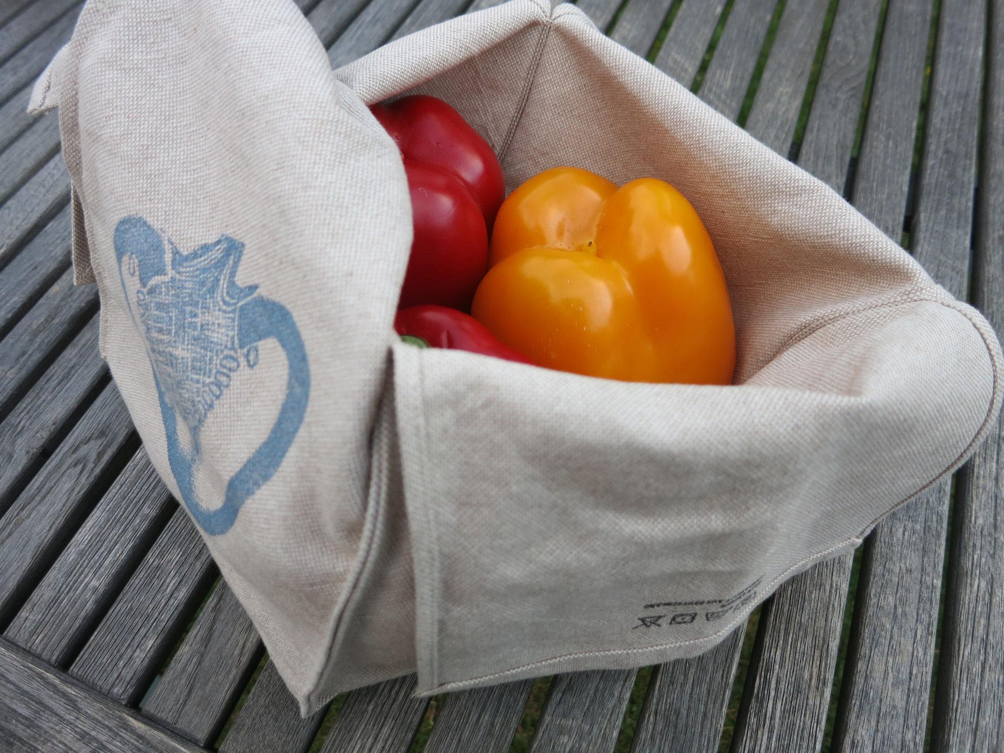 """""""Lifestyle für den Kühlschrank"""" - reines Leinen für die Aufbewahrung von Obst und Gemüse"""