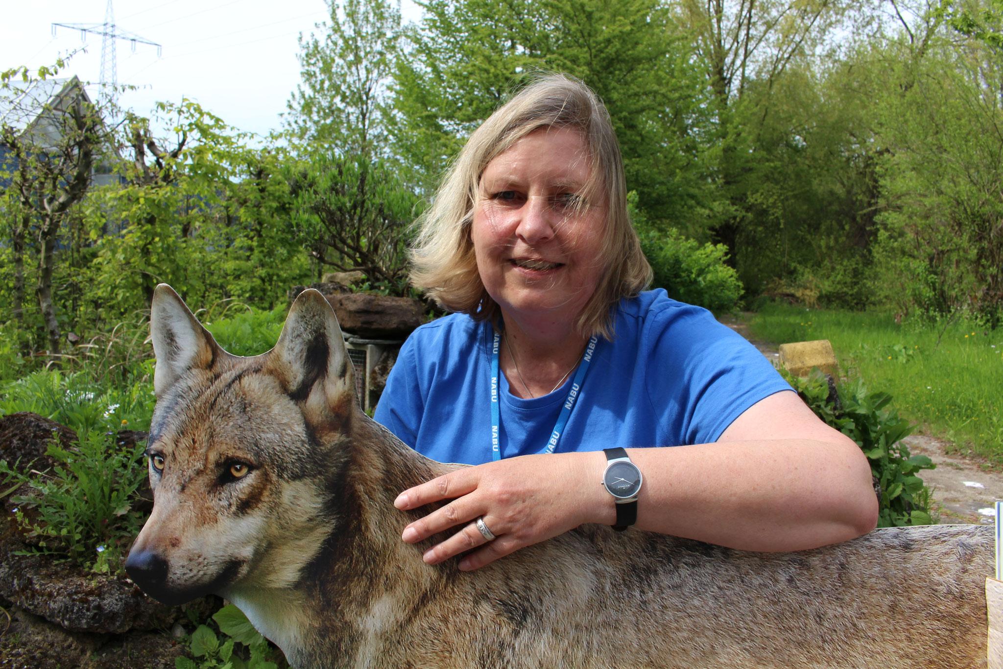 Foto: Rainer Hauhenschild: Wolfsbotschafterin Sabine Häring