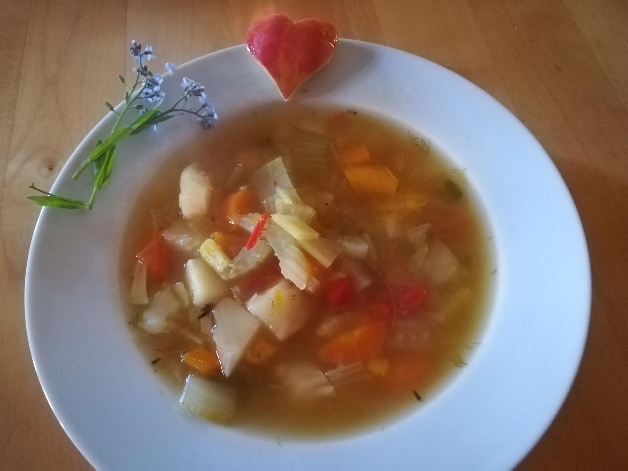 Abends gibt es Suppe