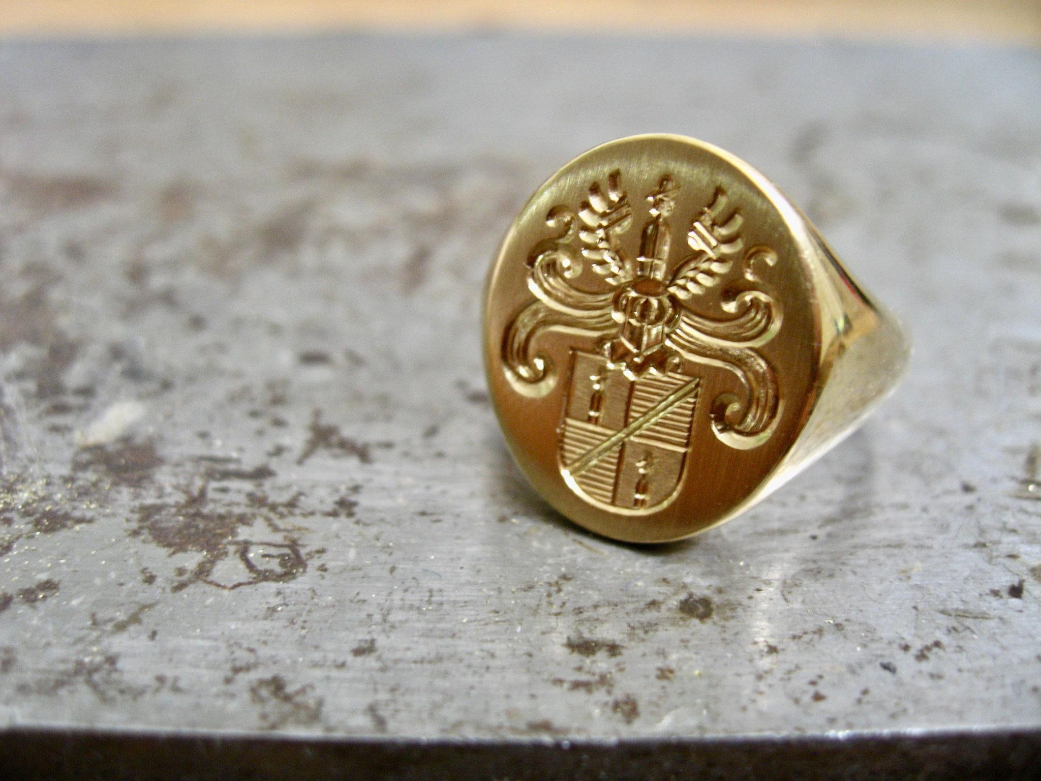 goldener Siegelring
