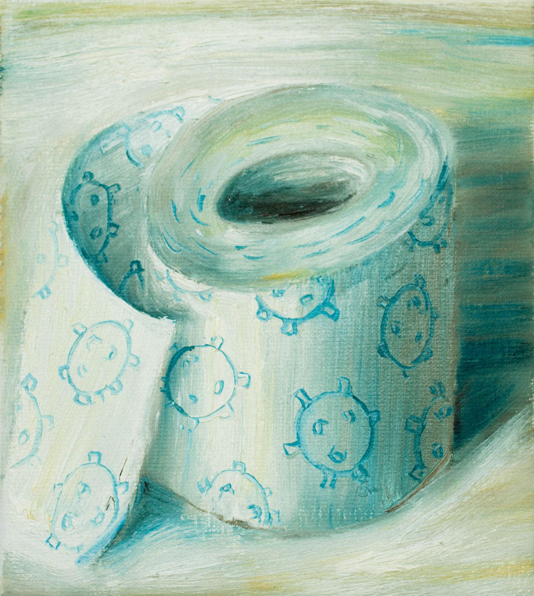 Toiletpaper with corona
