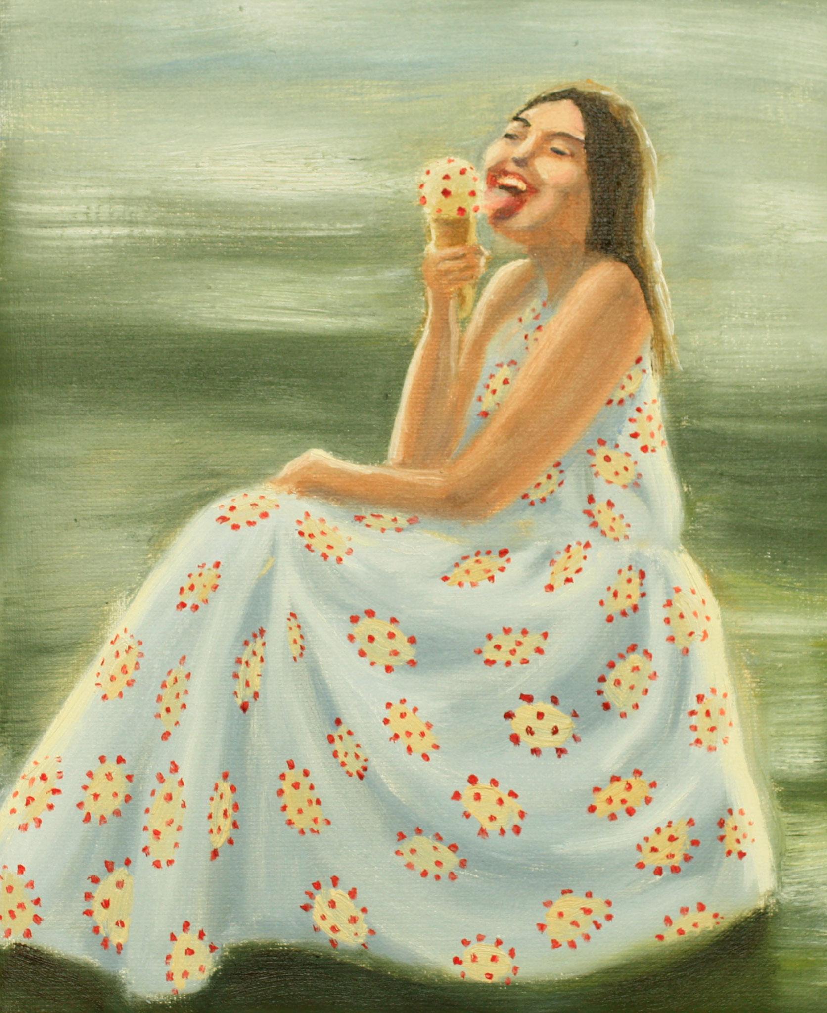 Summer dress with corona