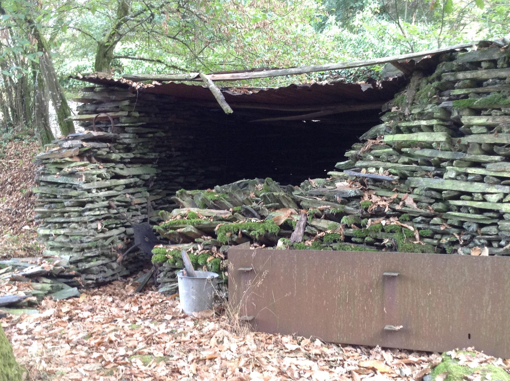 Cabane de carrier en cours de réfection