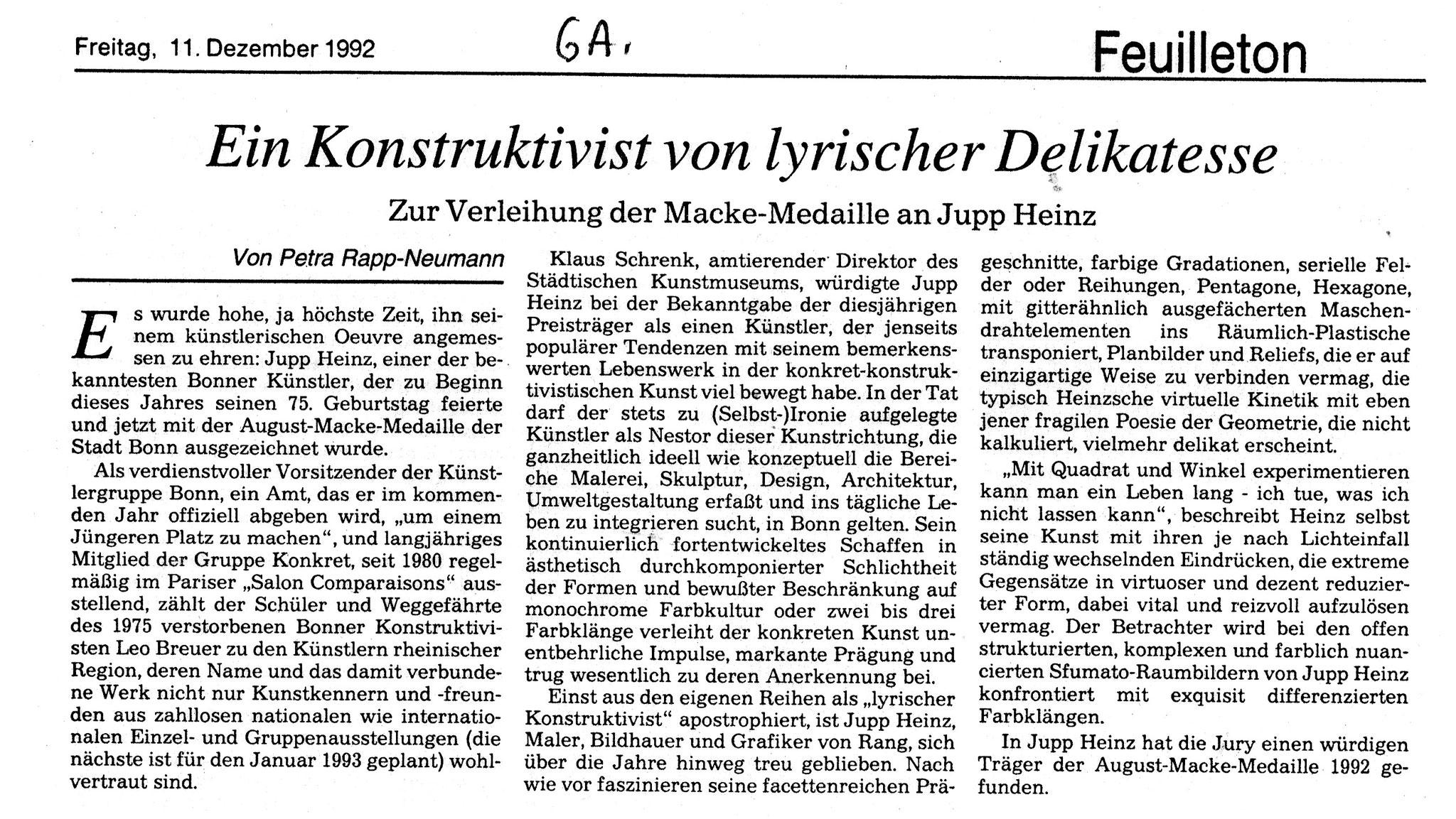 Bonn, General-Anzeiger 1992