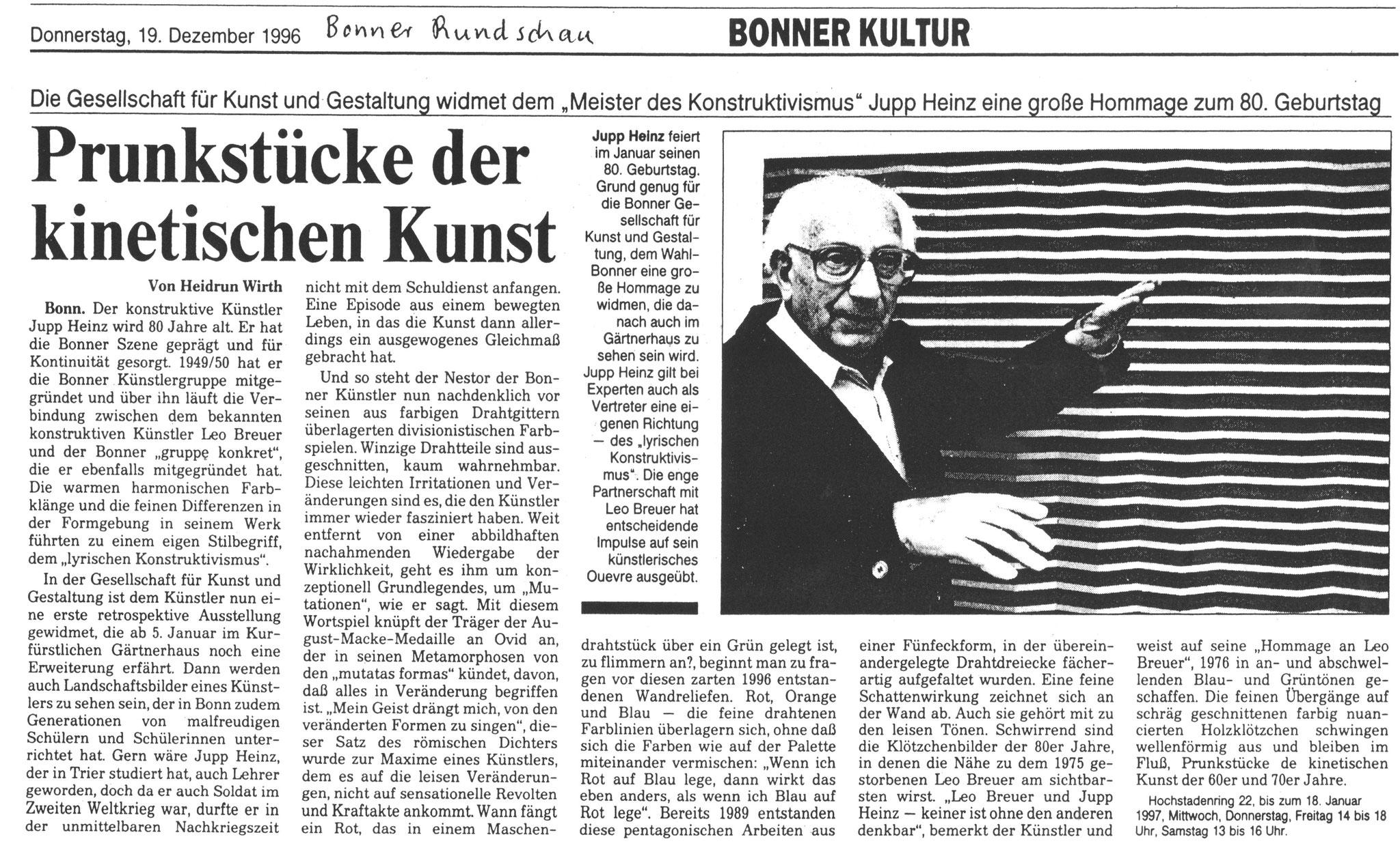 Bonn, Bonner Rundschau 1996
