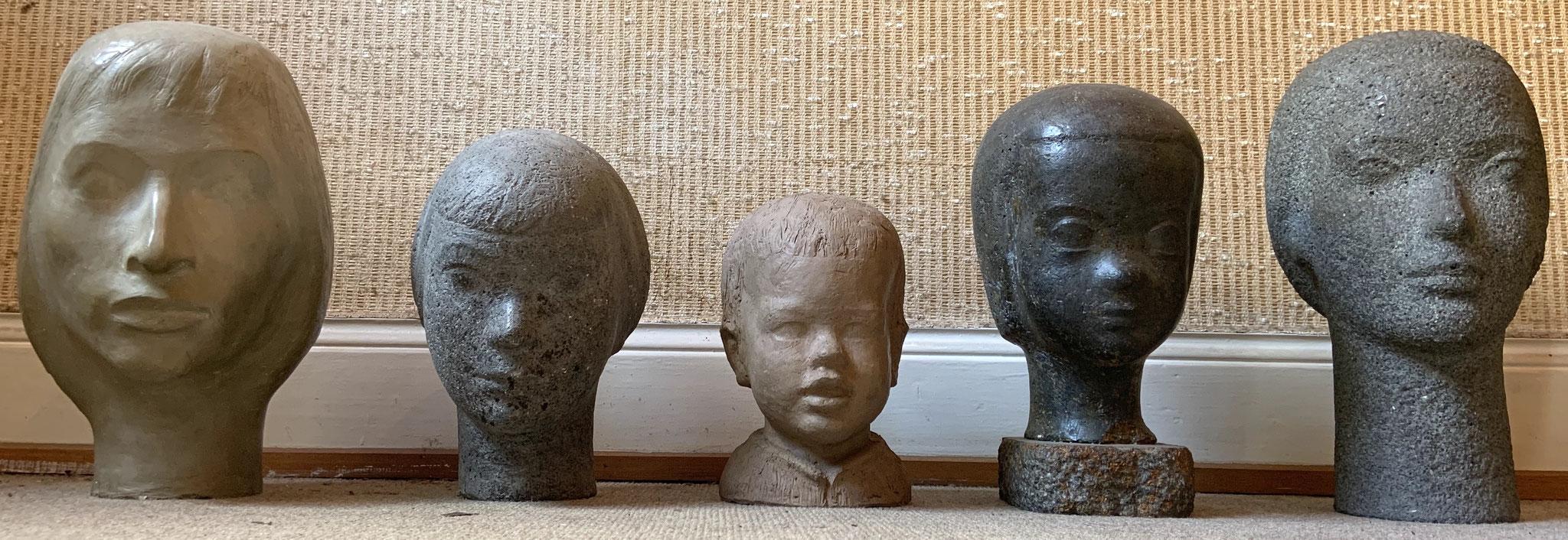 Diverse Kopfbüsten