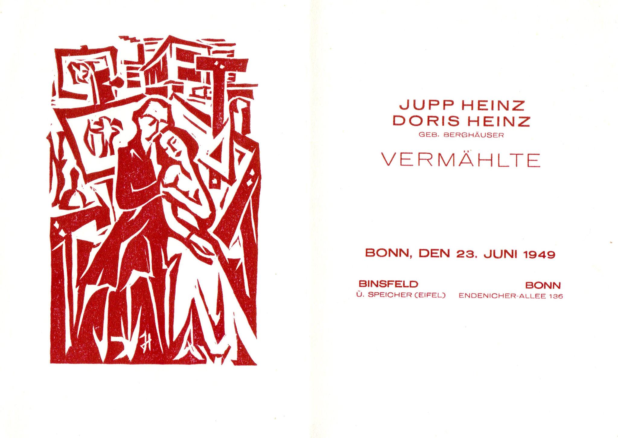 Hochzeitskarte 1949
