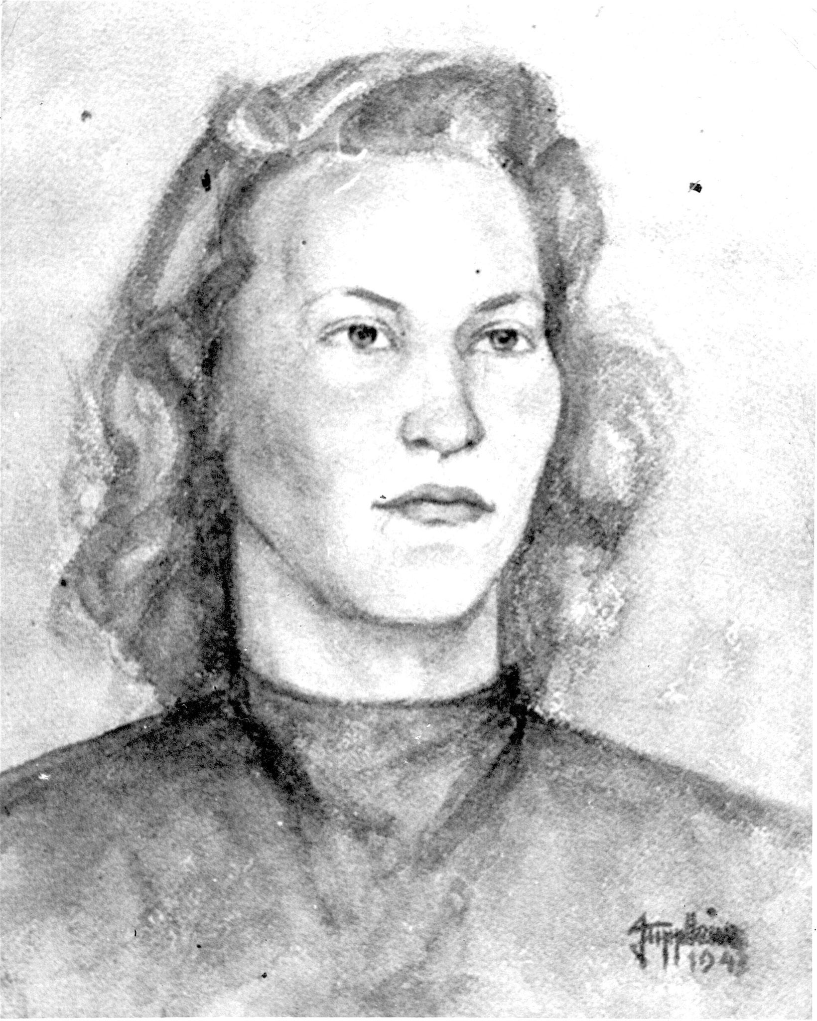 Portrait junge Frau 1943