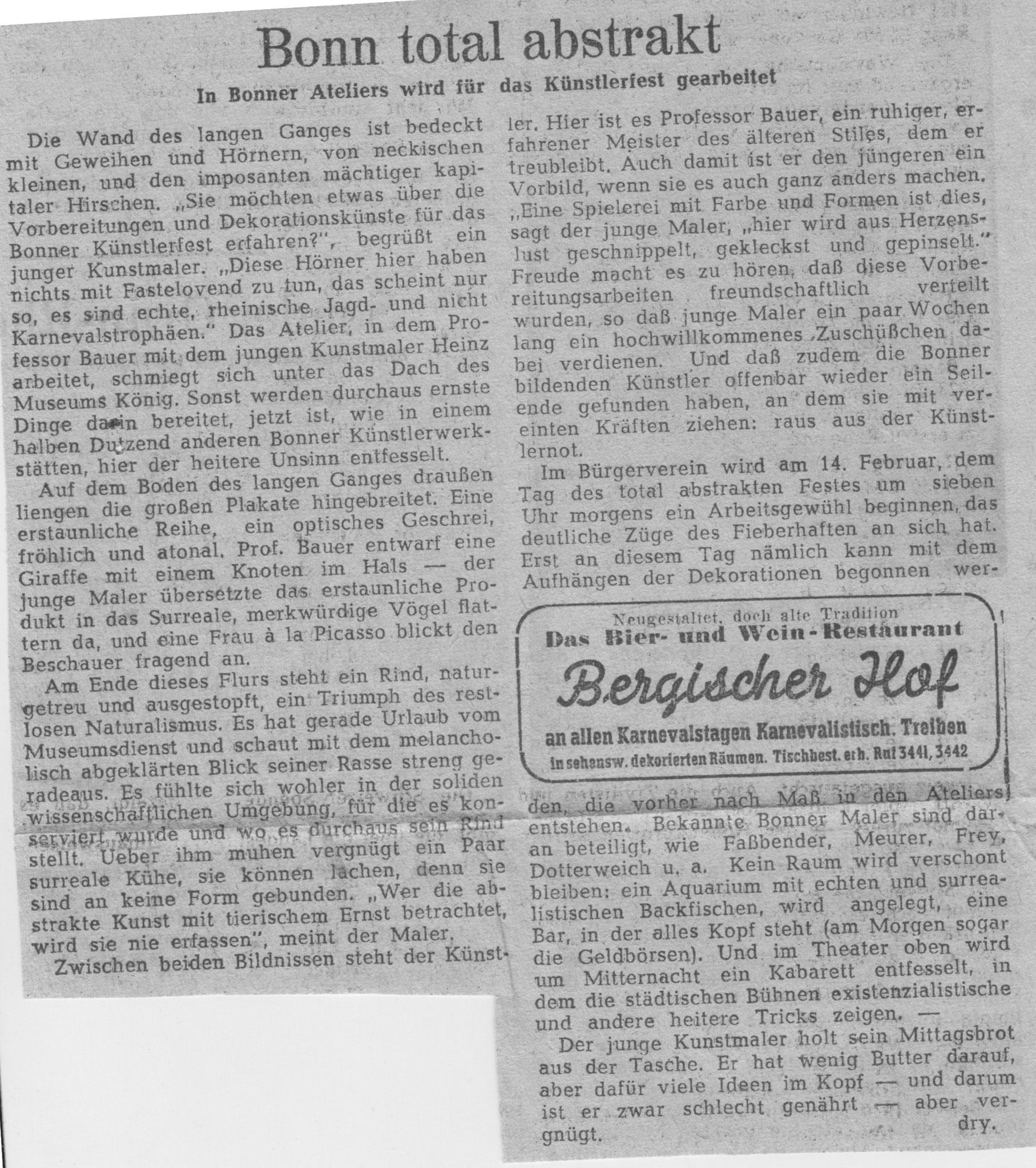 Bonn, General-Anzeiger 1949