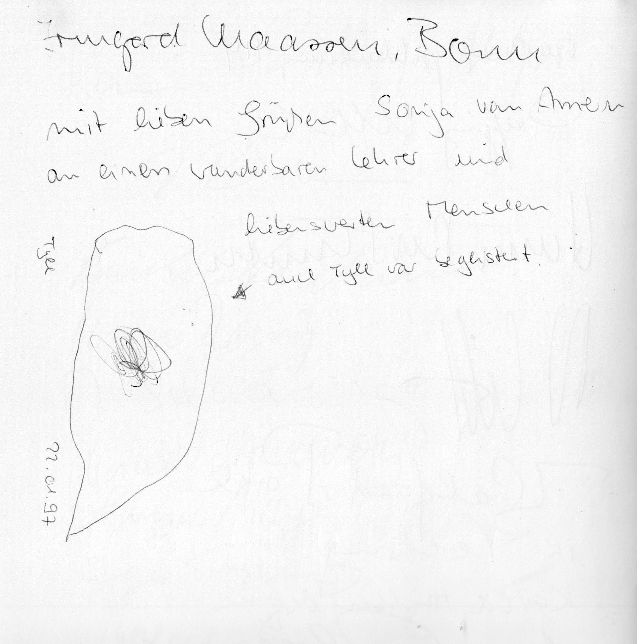 Auszug aus Gästebuch 1997 / II