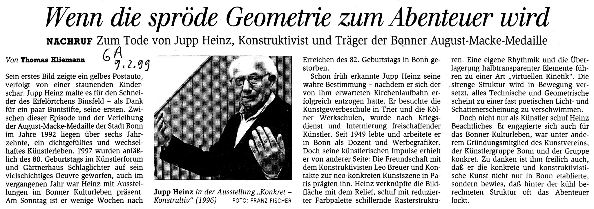 Bonn, General-Anzeiger 1999