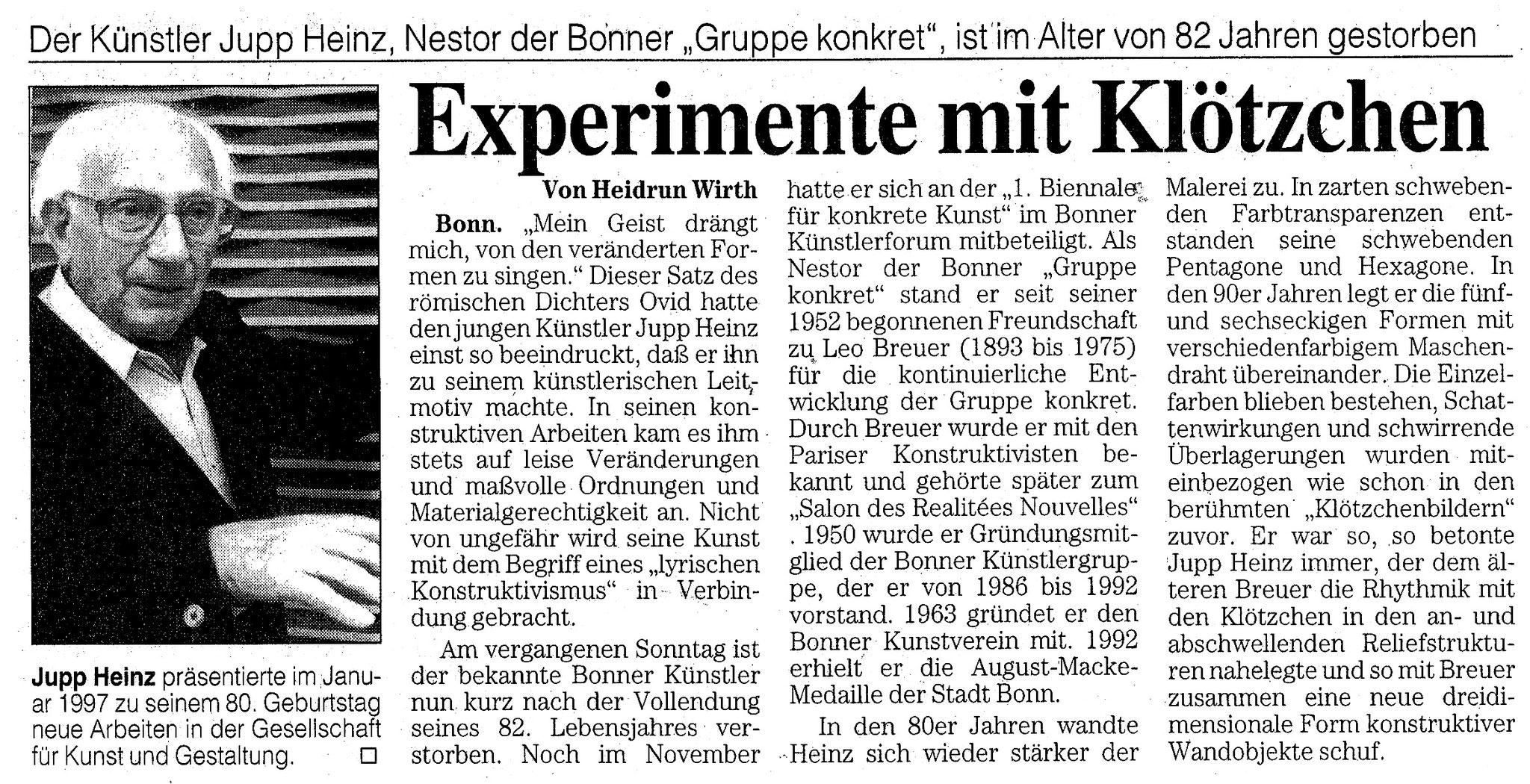 Bonn, Bonner Rundschau 1999