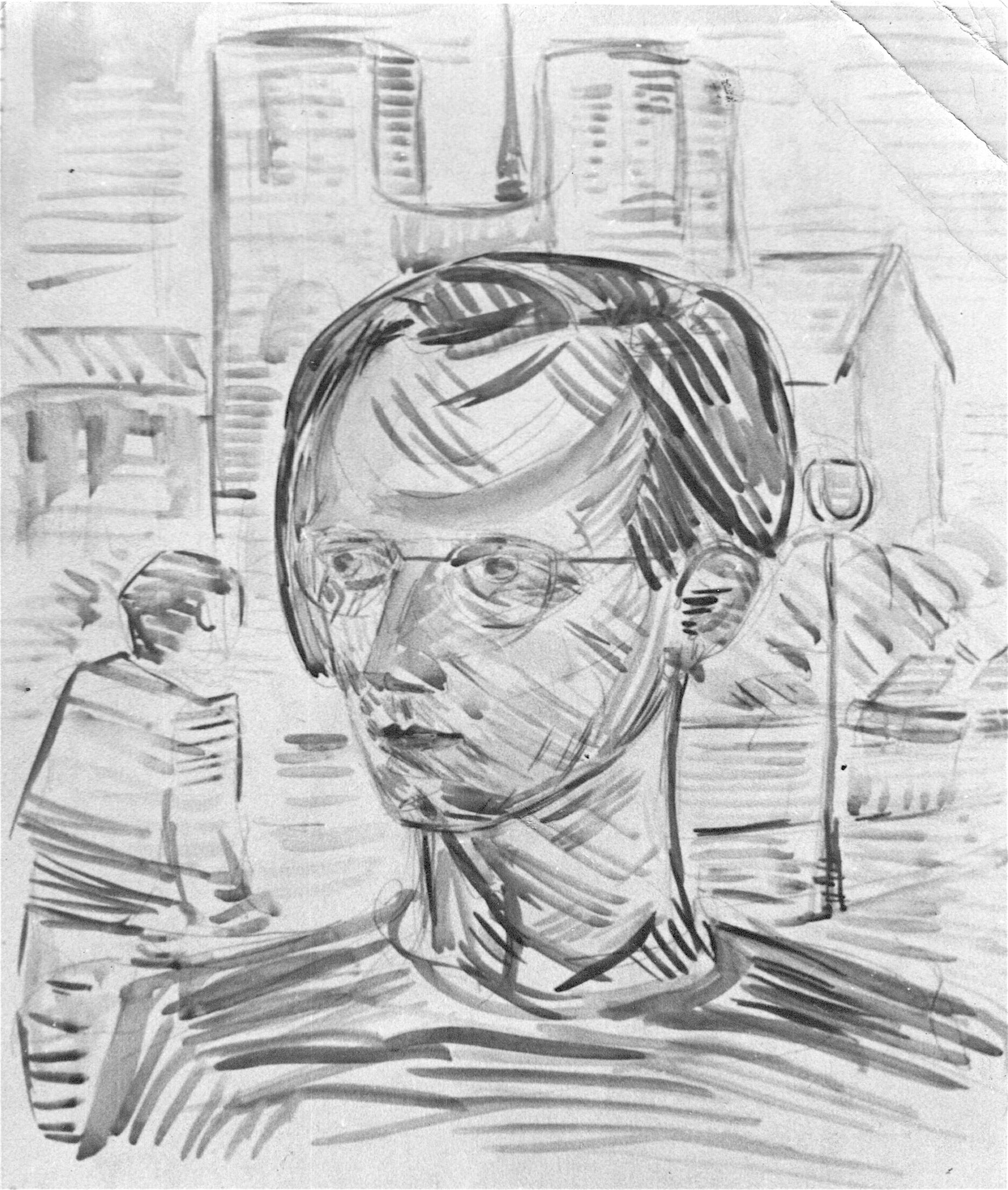 Selbstportrait Lübeck 1945