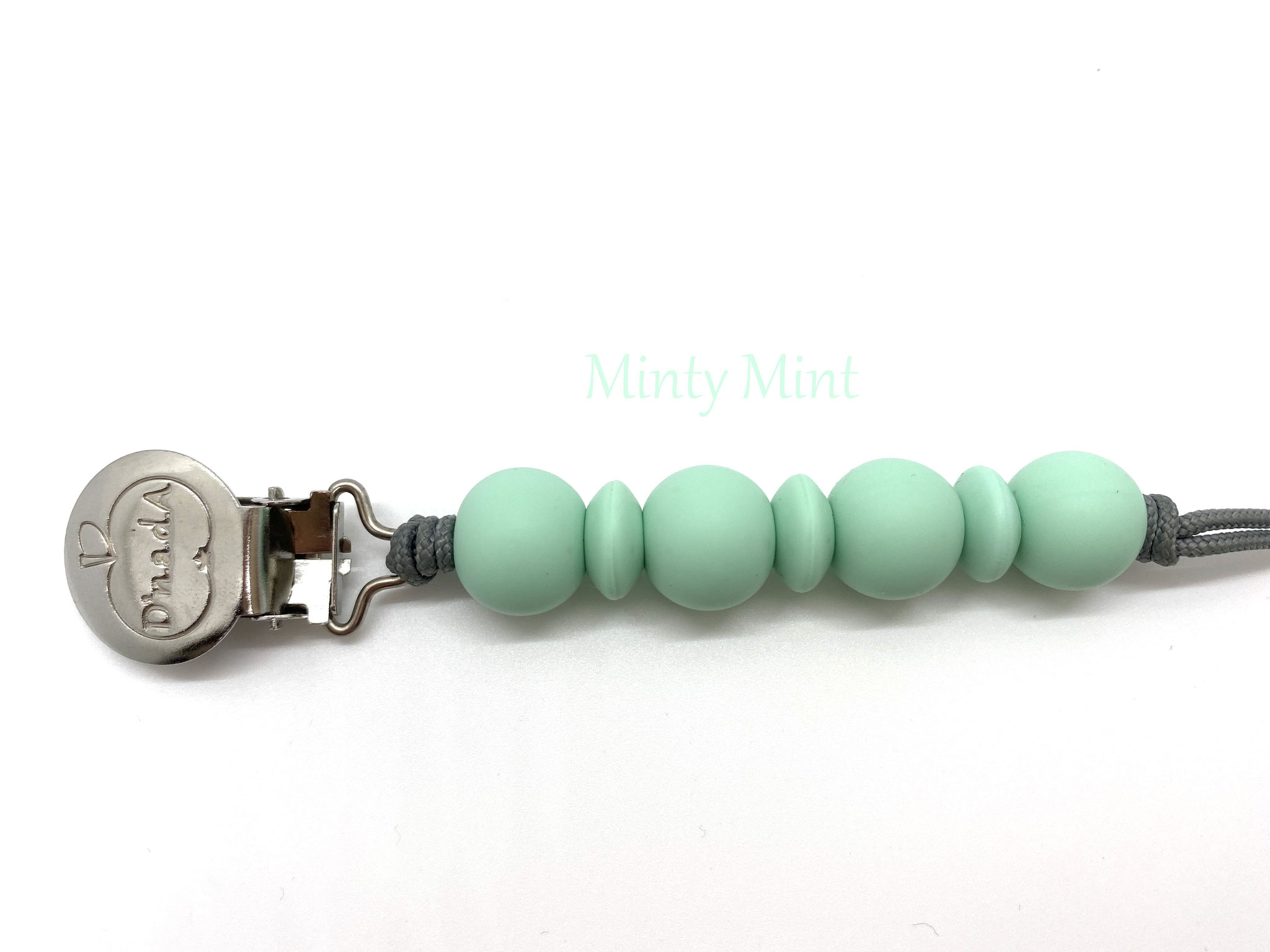 Minty Mint with Silver Cord // Minty Mint mit Silber Schnur
