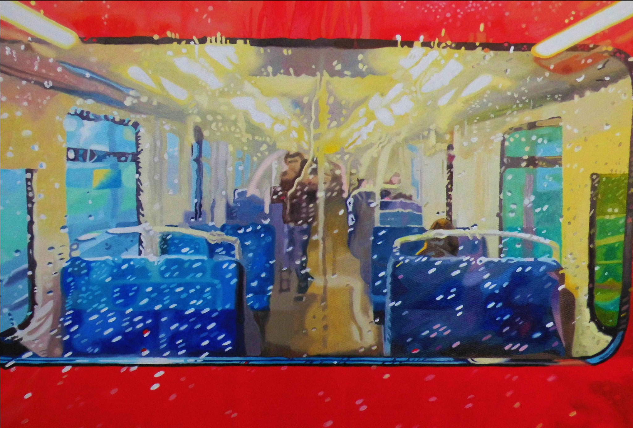 S-Bahn, Oil on Canvas, 50 x 70 cm