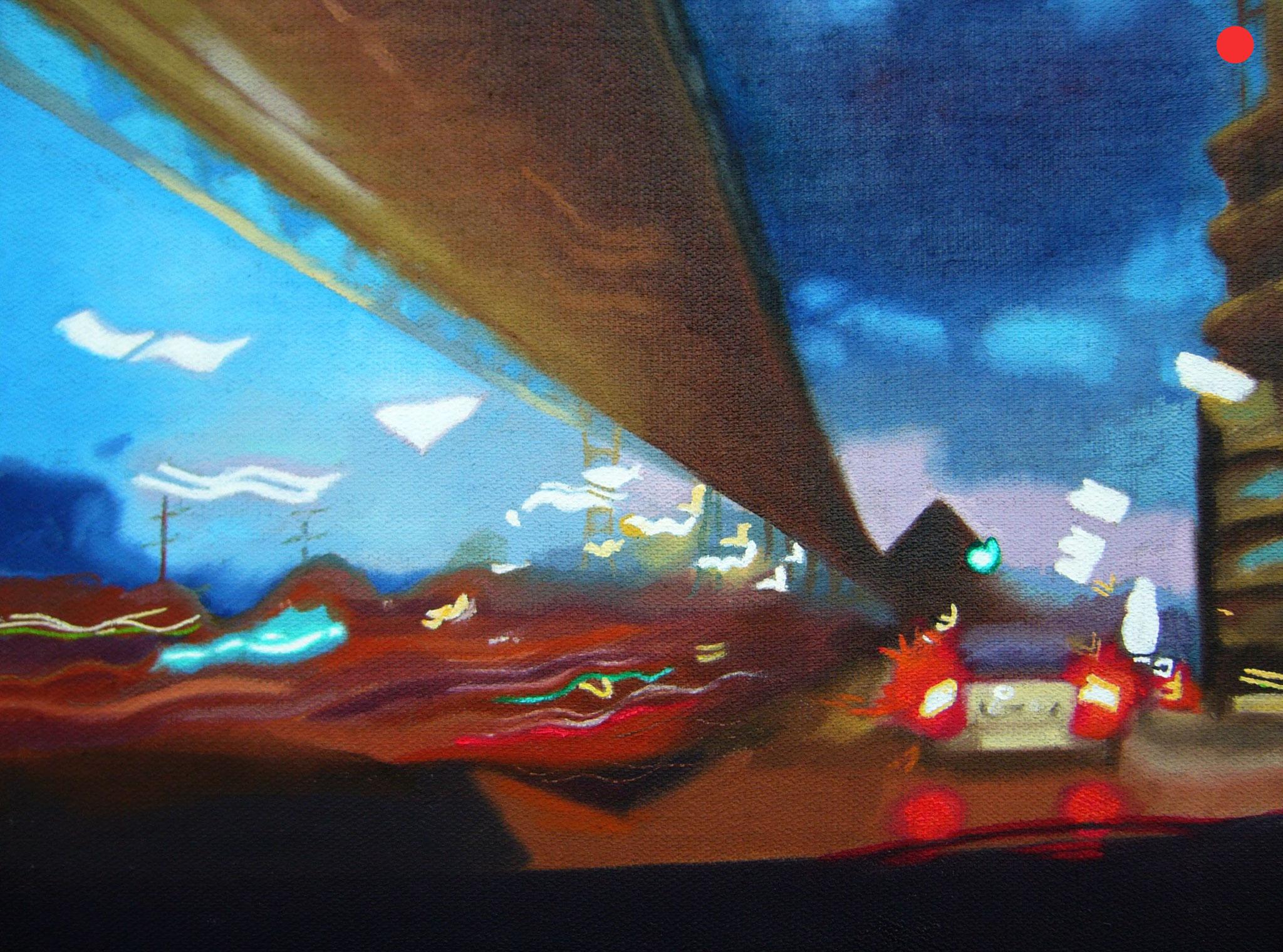 Landungsbrücken, Oil on Canvas, 40 x 50 cm
