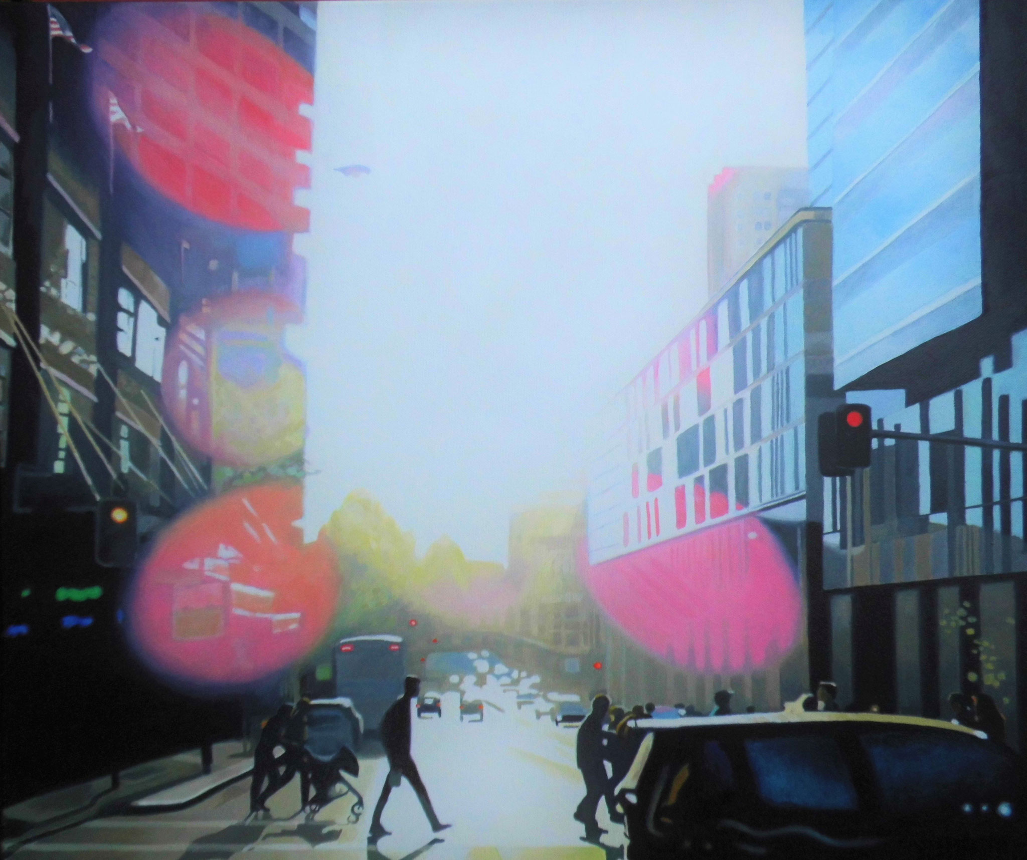 Pittstreet, Oil on Canvas, 60 x 50 cm