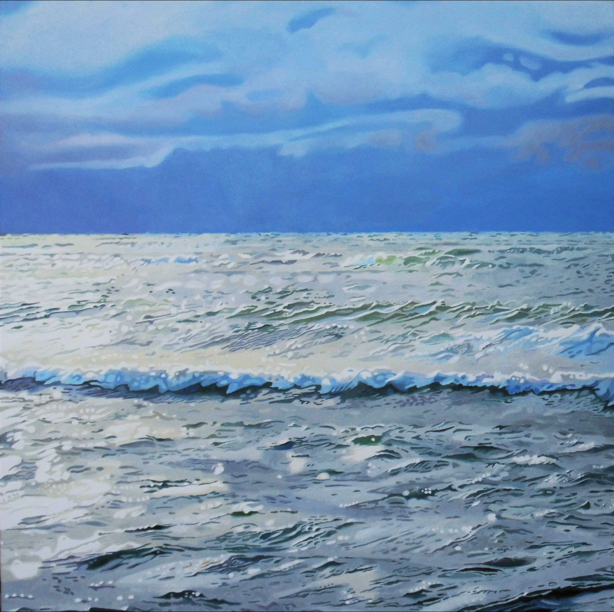Meer, Oil on Canvas, 100 x 100 cm