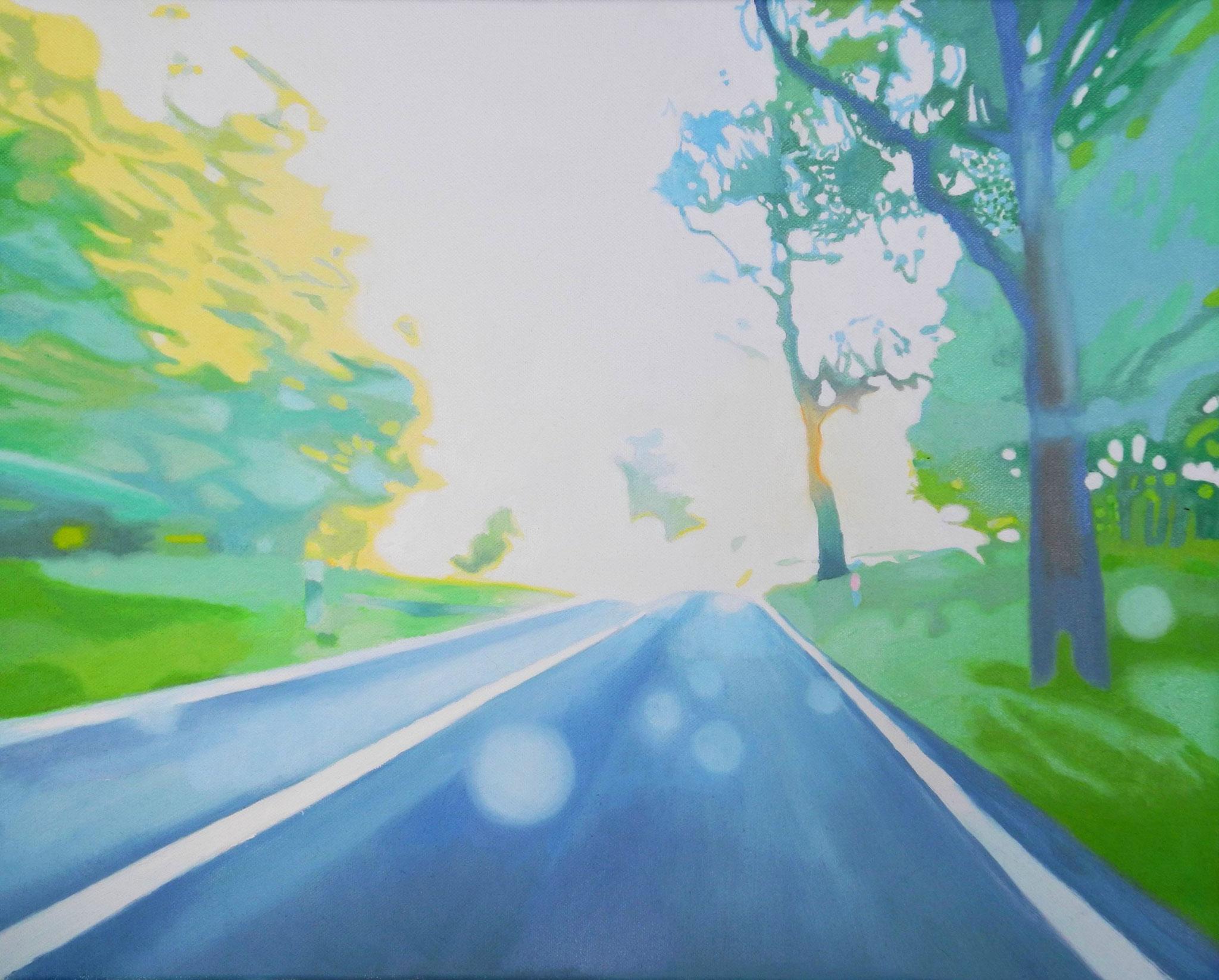 Wegfahren, Oil on Canvas, 50 x 40 cm