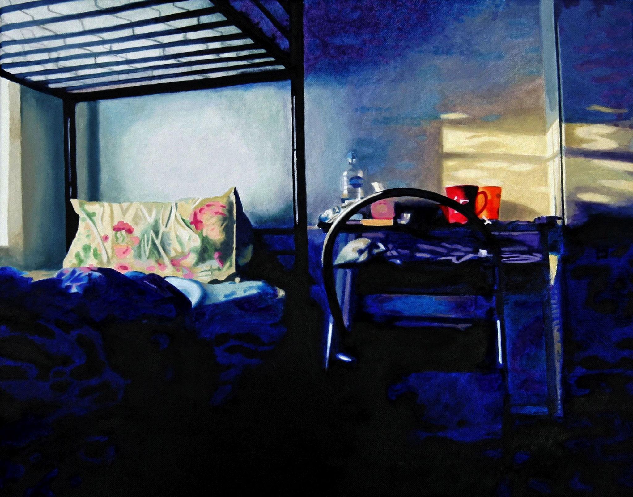 Sharehouse-Room, Oil on Canvas, 50 x 40 cm