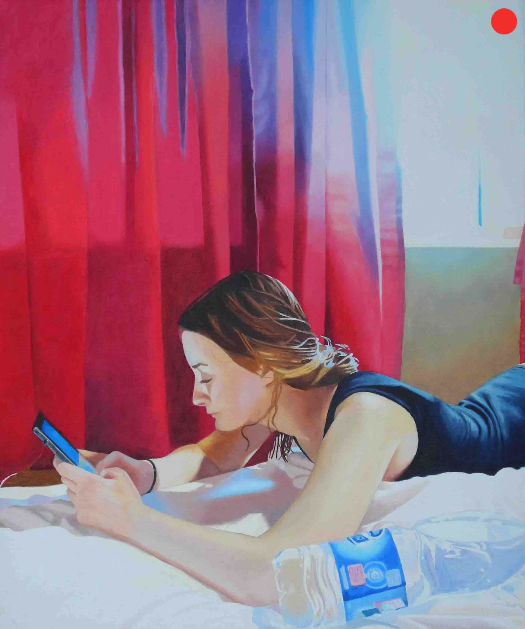 Franzi in Bangkok, Oil on Canvas, 70 x 60 cm