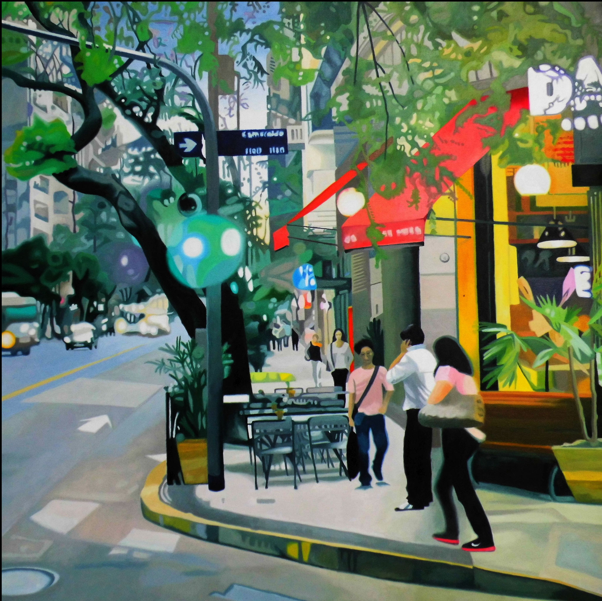 Buenos Aires I, Oil on Canvas, 100 x 100 cm