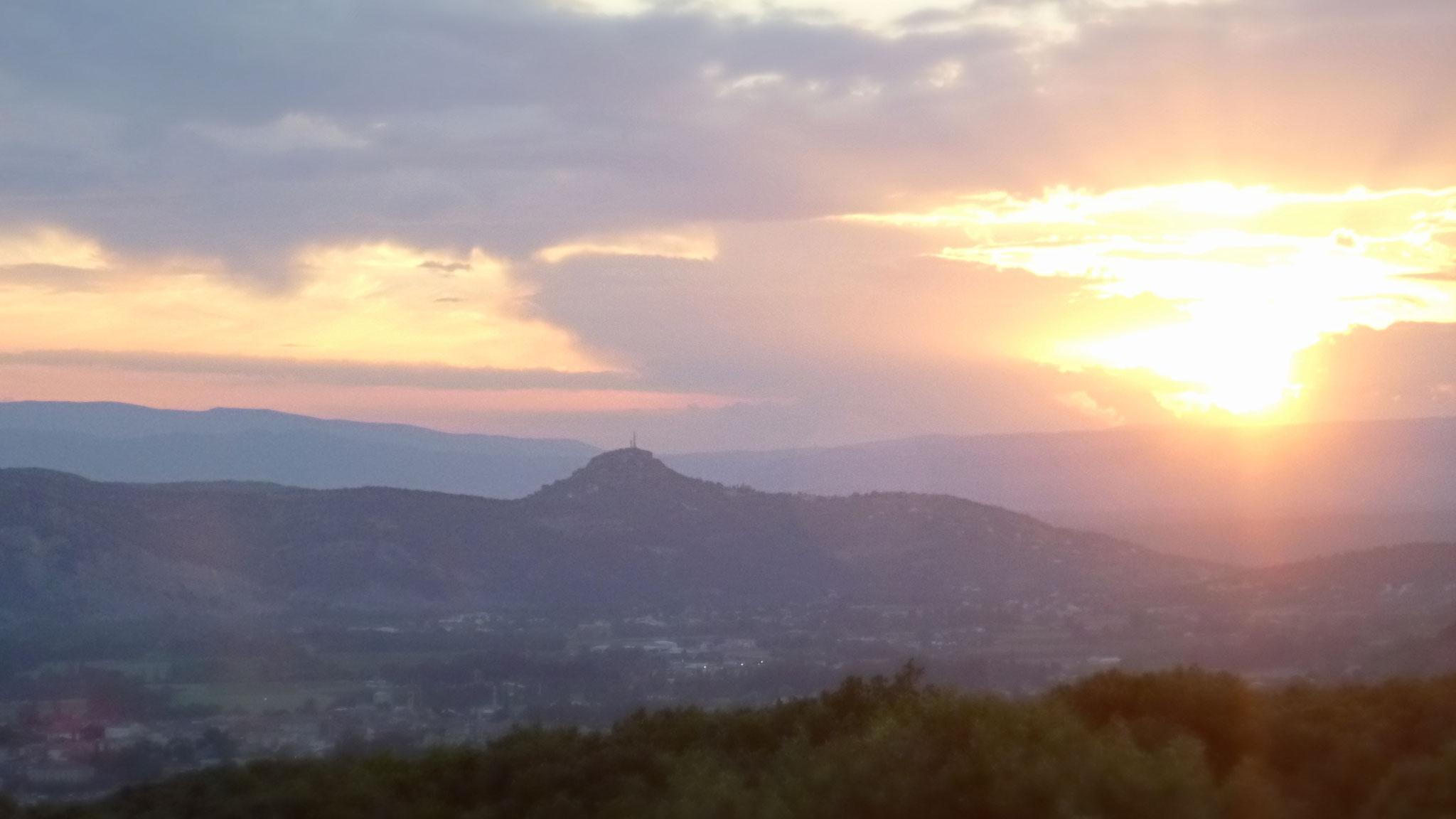 L'Ardèche méridionale - Coucher de soleil