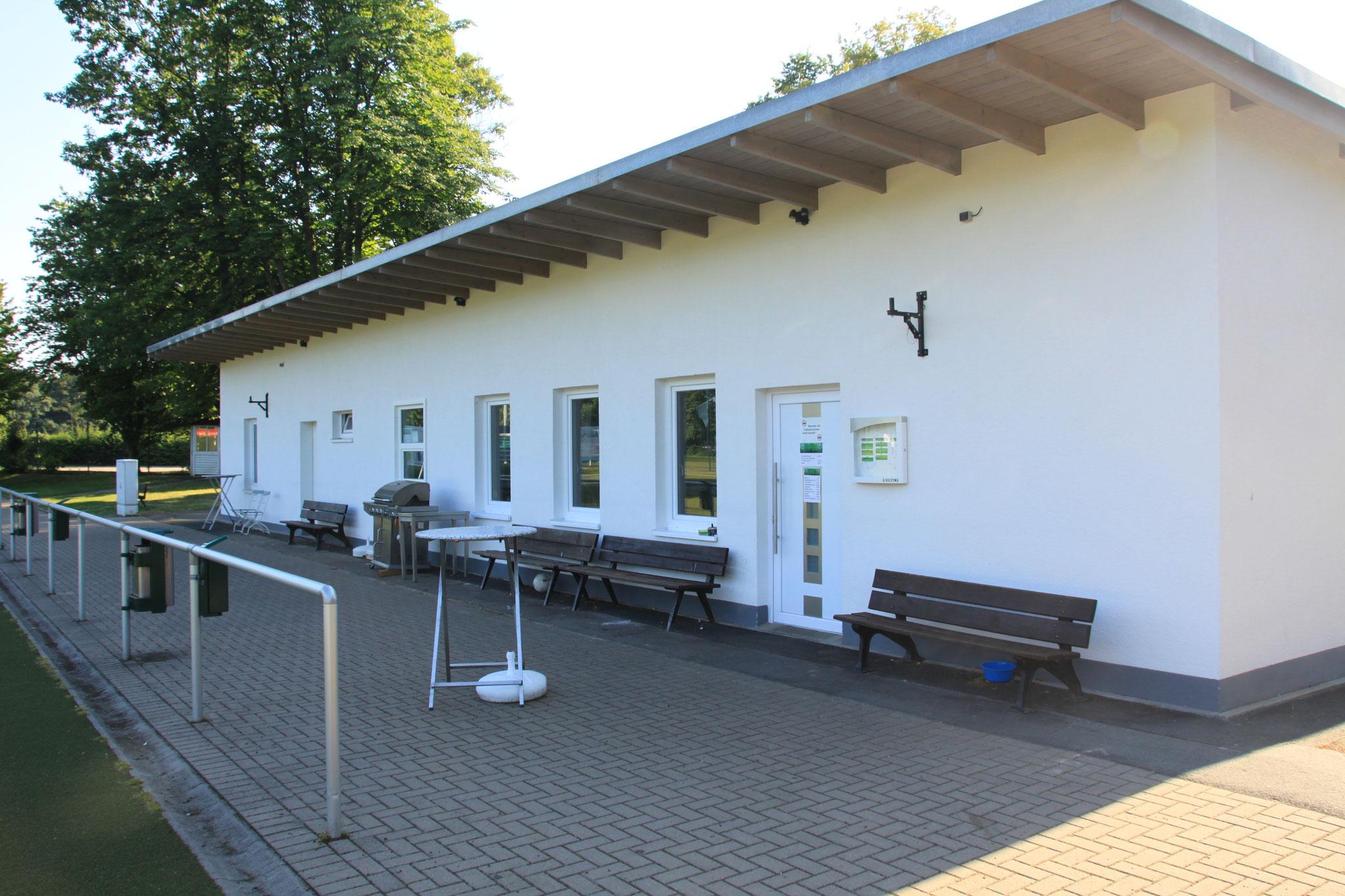 Vereinsheim Sicht Mittellinie
