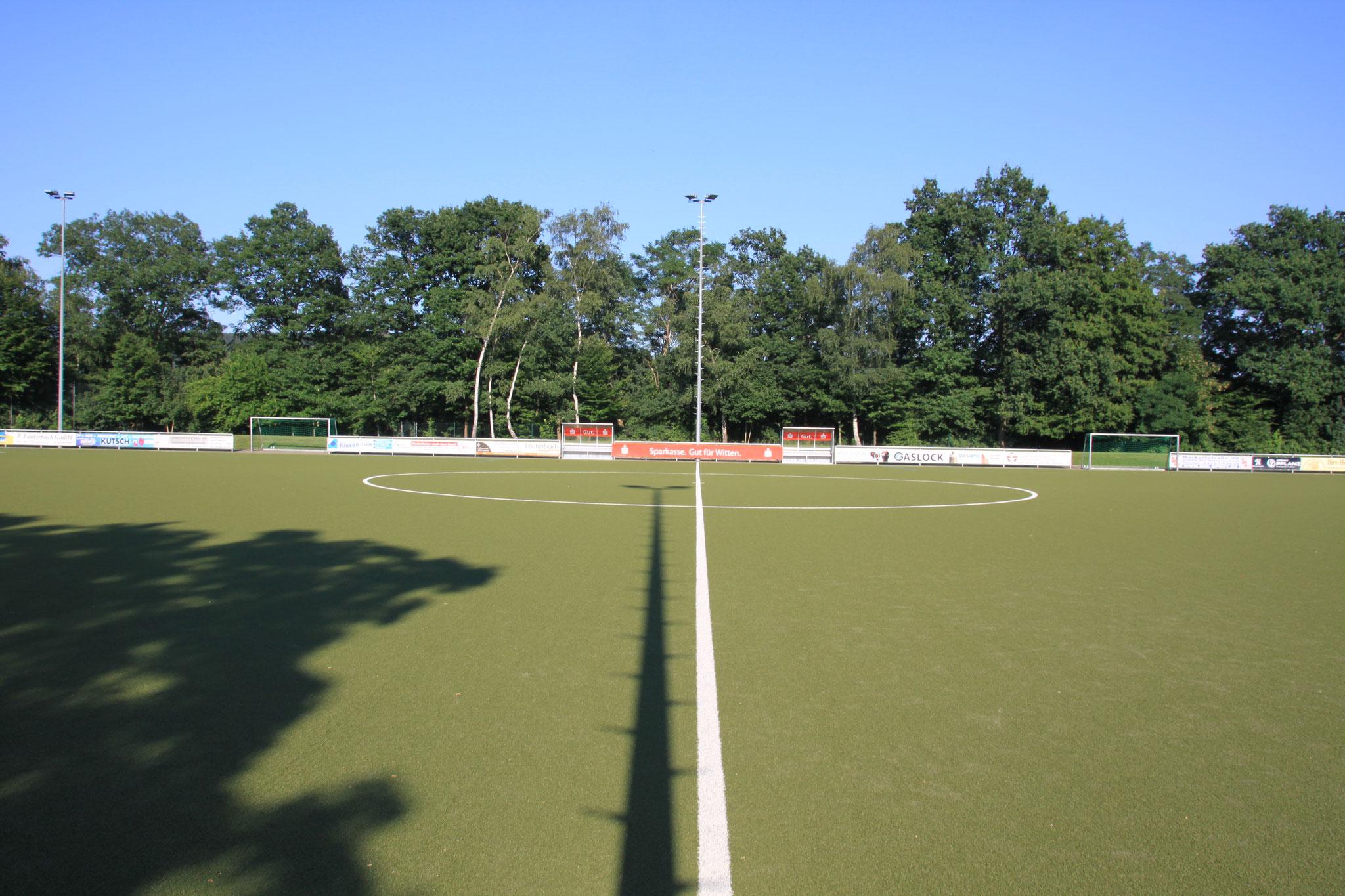 Sportplatz Sicht Mittellinie