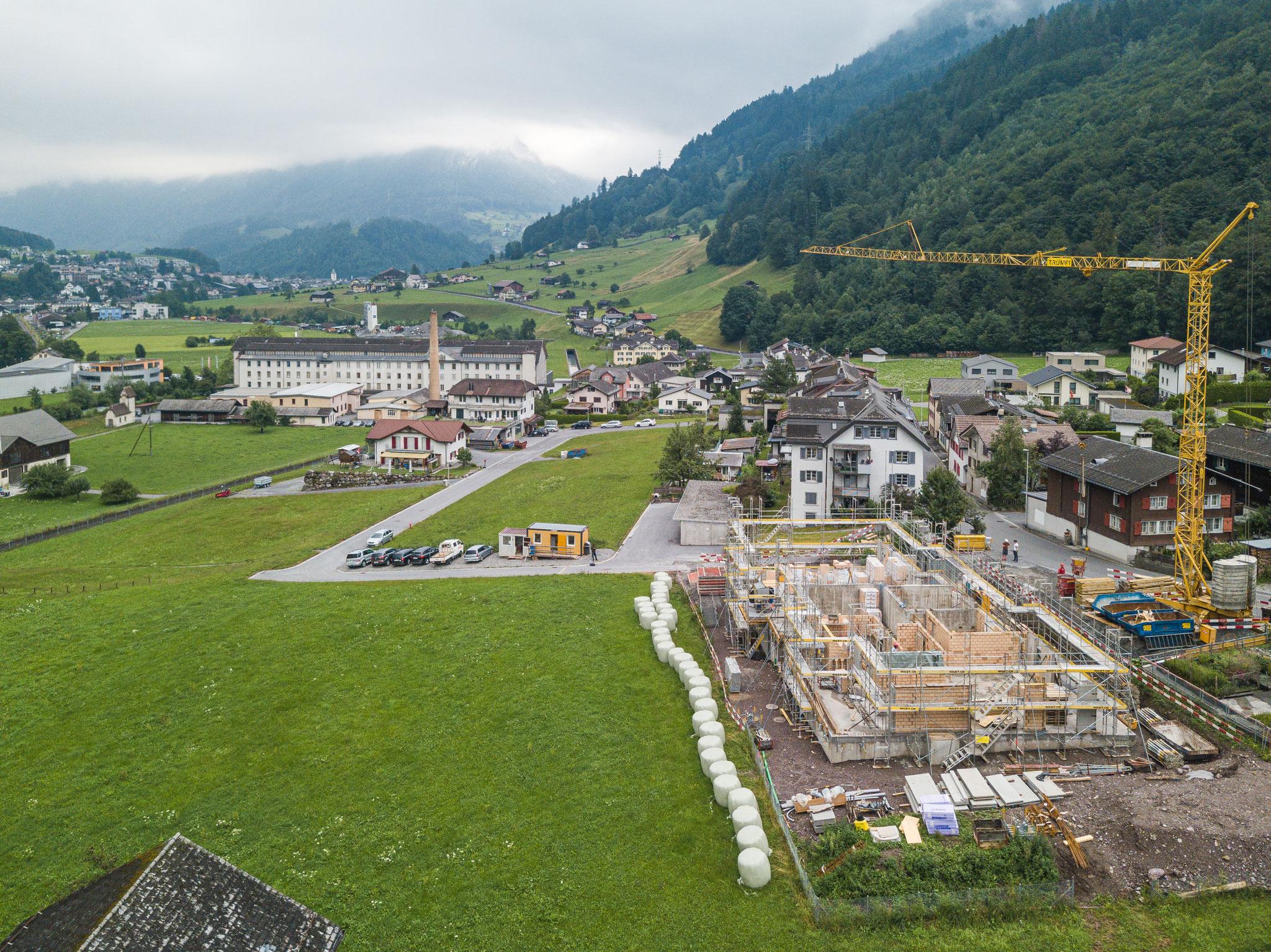 Baufortschritt Juli 2019, Bild: tenzmedia.ch