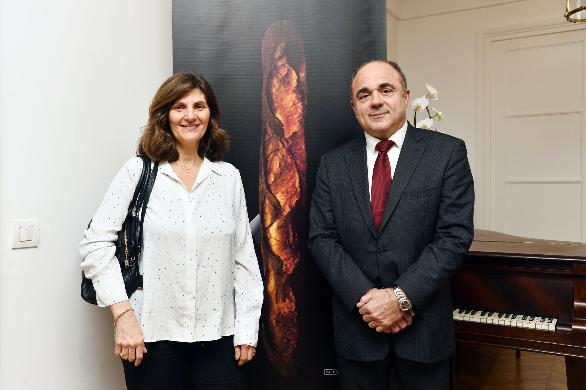 Mme Diane Doré, Secrétaire Générale de la CSFL au côté de M. Dominique Anract, Président de la CNBPF