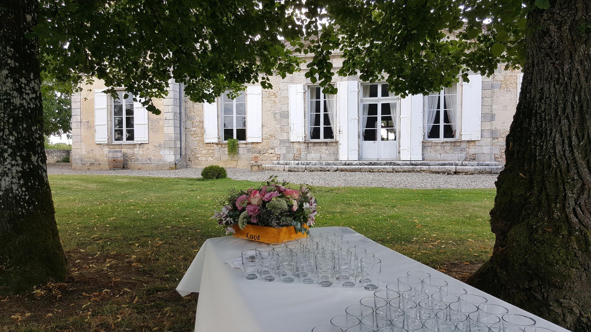 """Cocktail dans le jardin du Château Fleurs """"Stéph'Fleurie"""""""