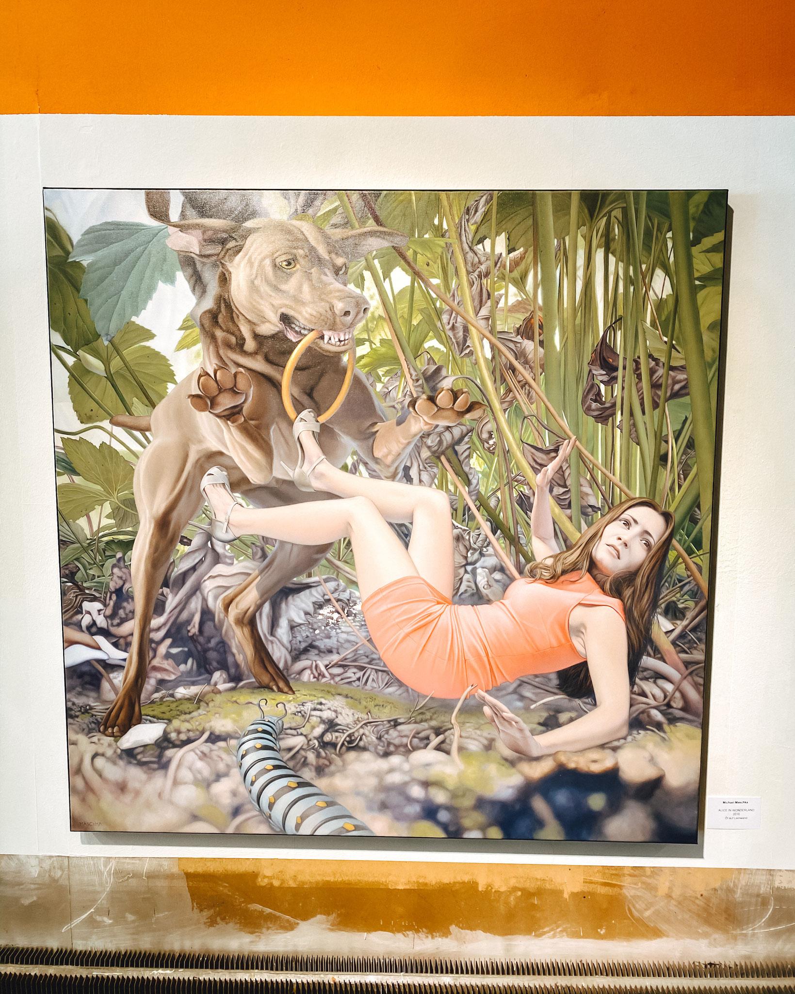 Alice in Wonderland - Öl auf Leinwand, 2016