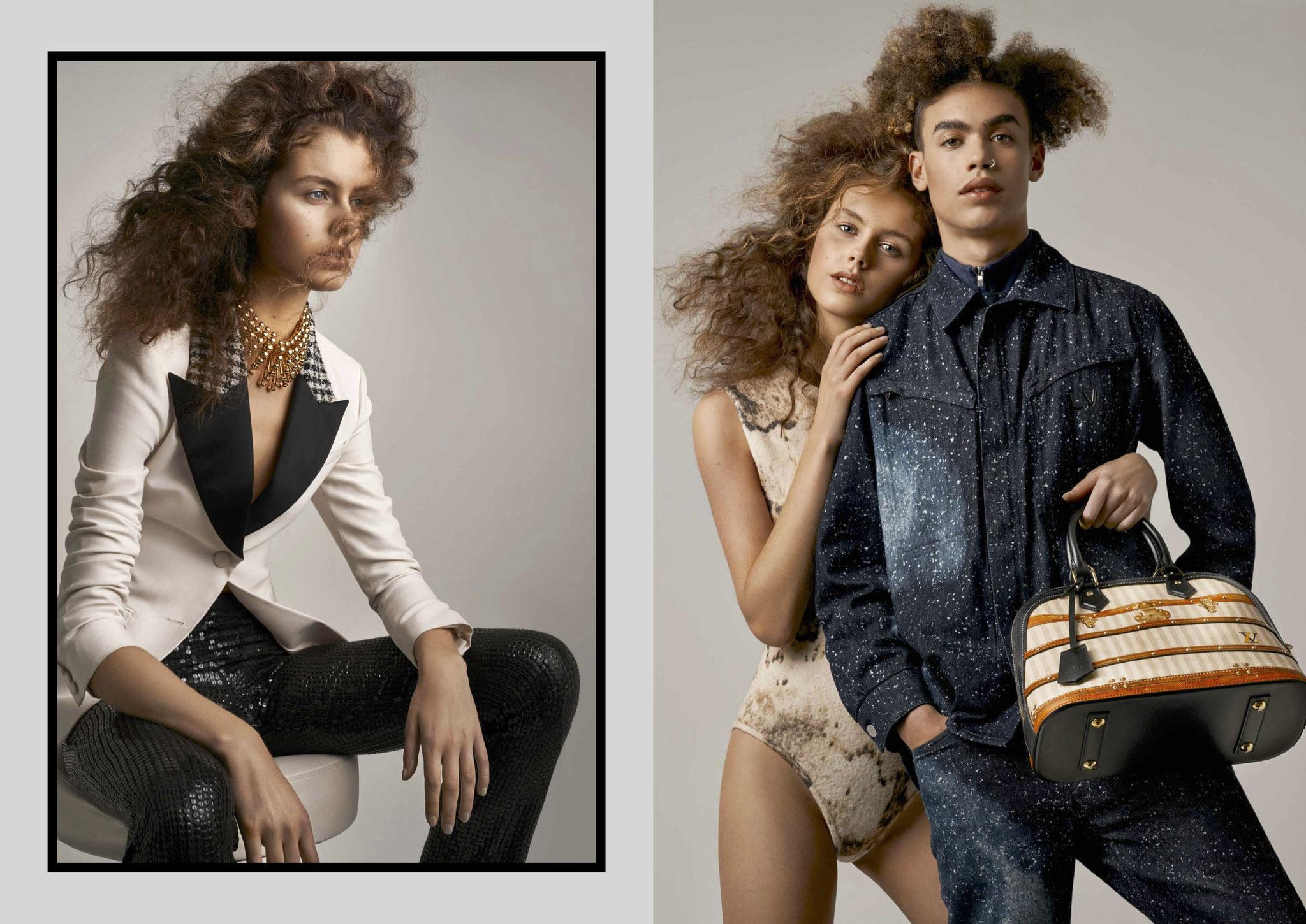 Louis Vuitton special 'Pollen' magazine ©Olivier desarte Fashion Editor Geoffrey Masure