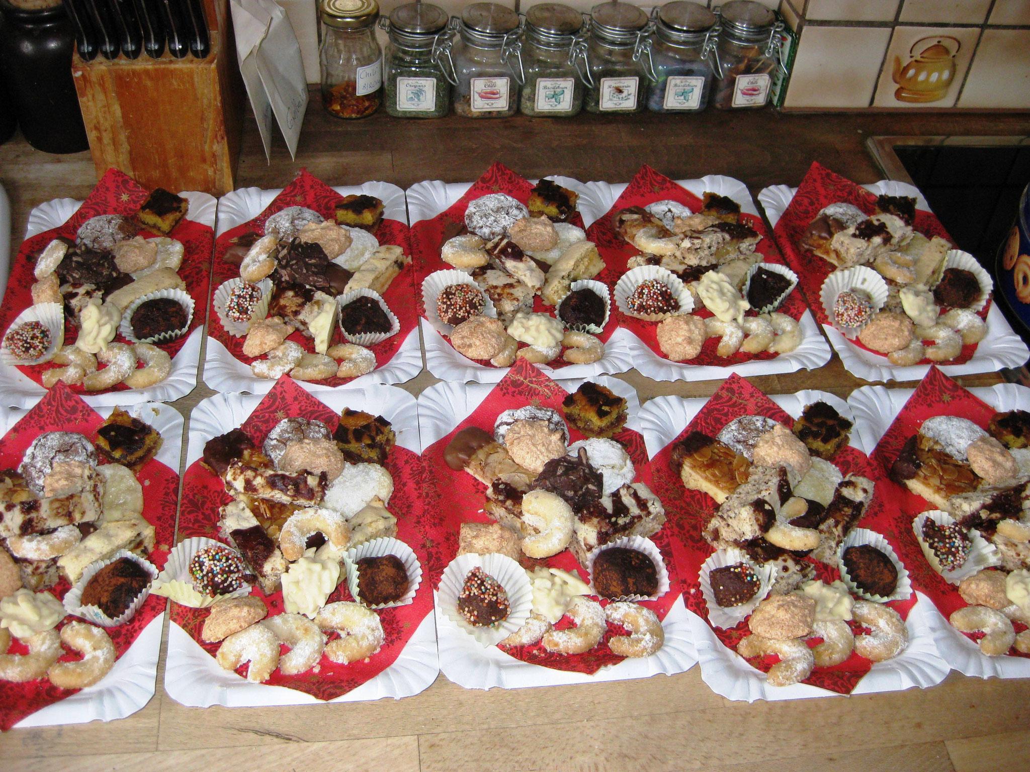 selbst gemachte Weihnachtsbäckerei