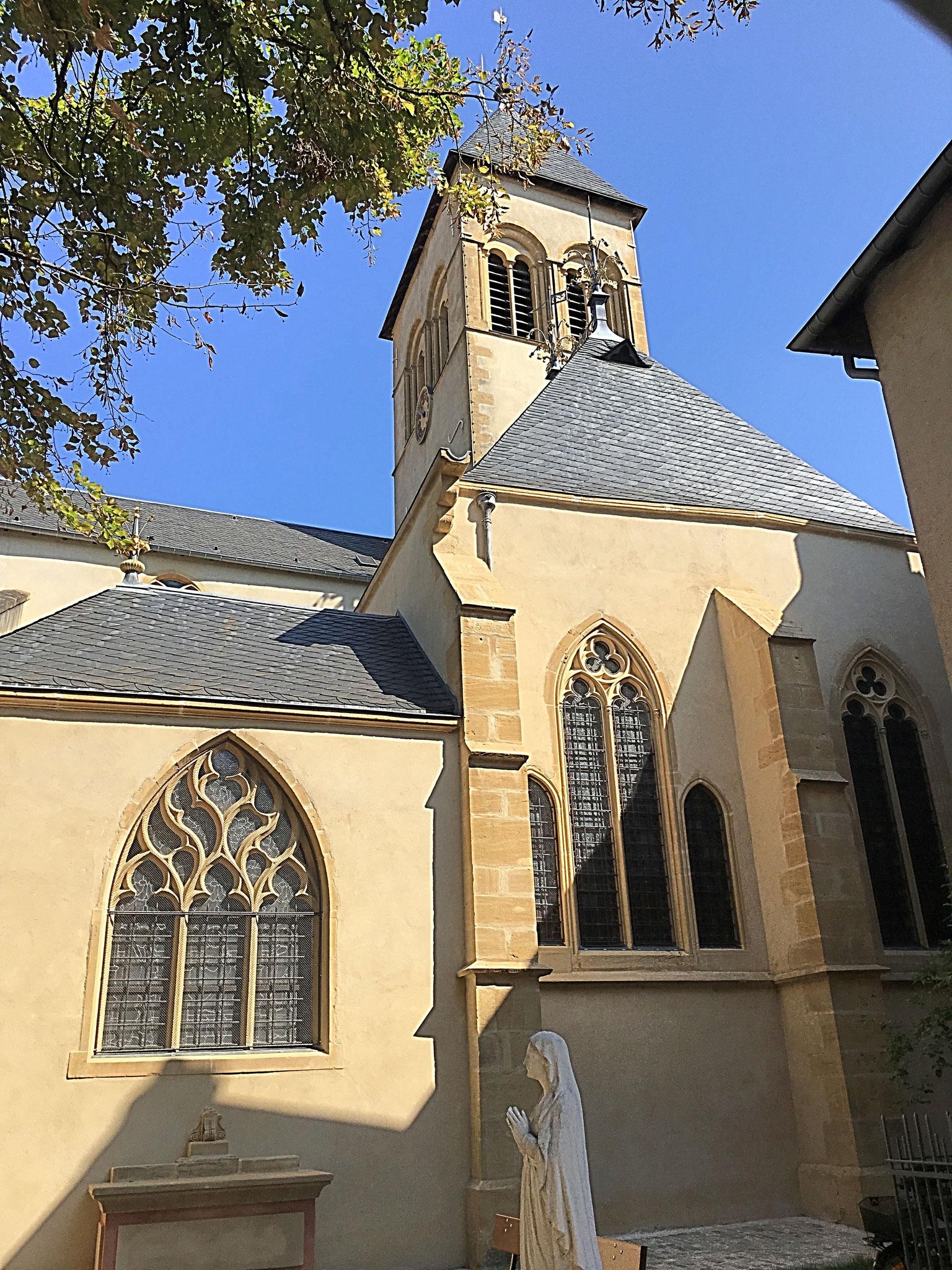 Die Kirche St. Maximin in der Nähe des Deutschen Tores in Metz