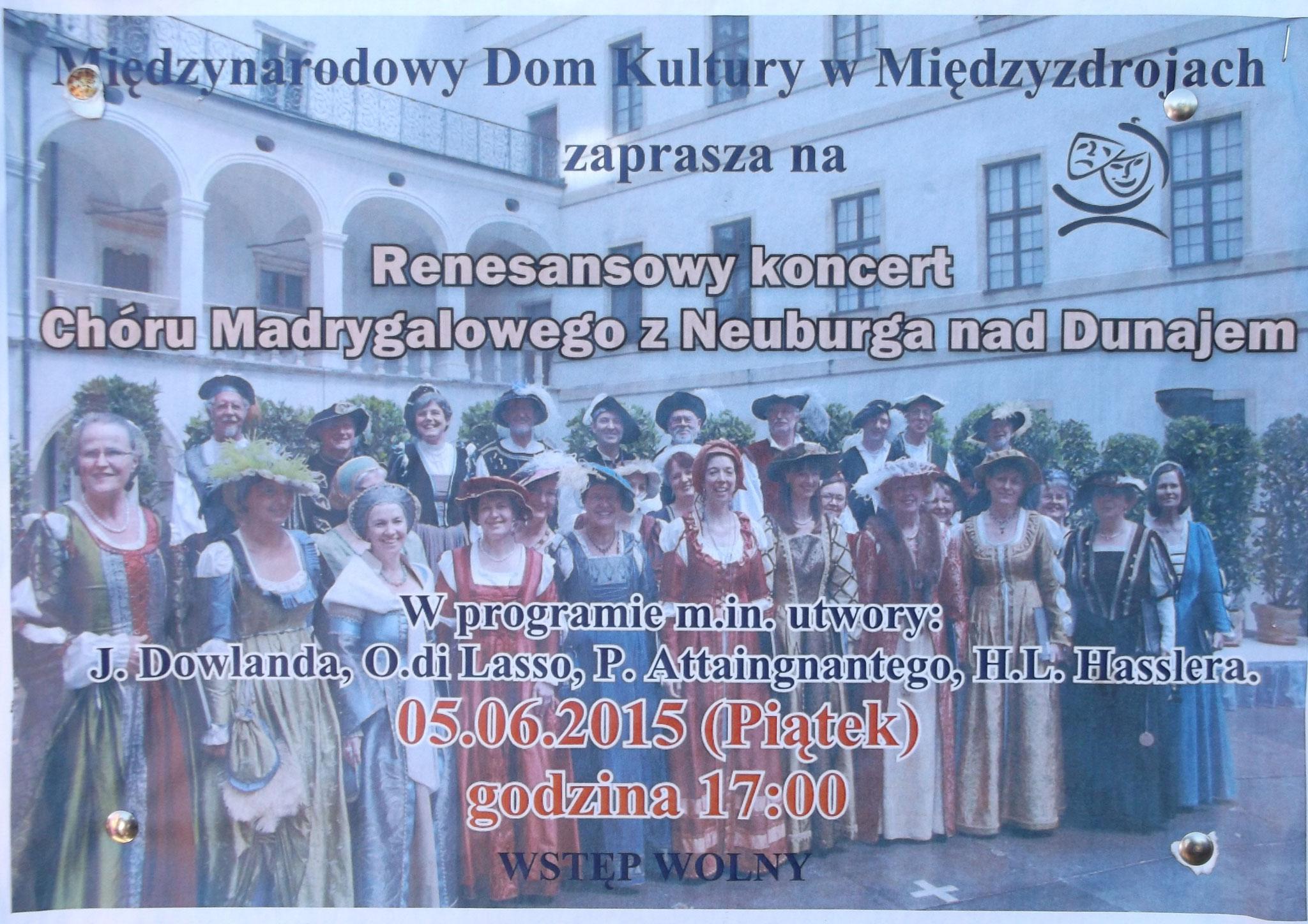 Ankündigung Konzert in Misdroy (Polen 2015)
