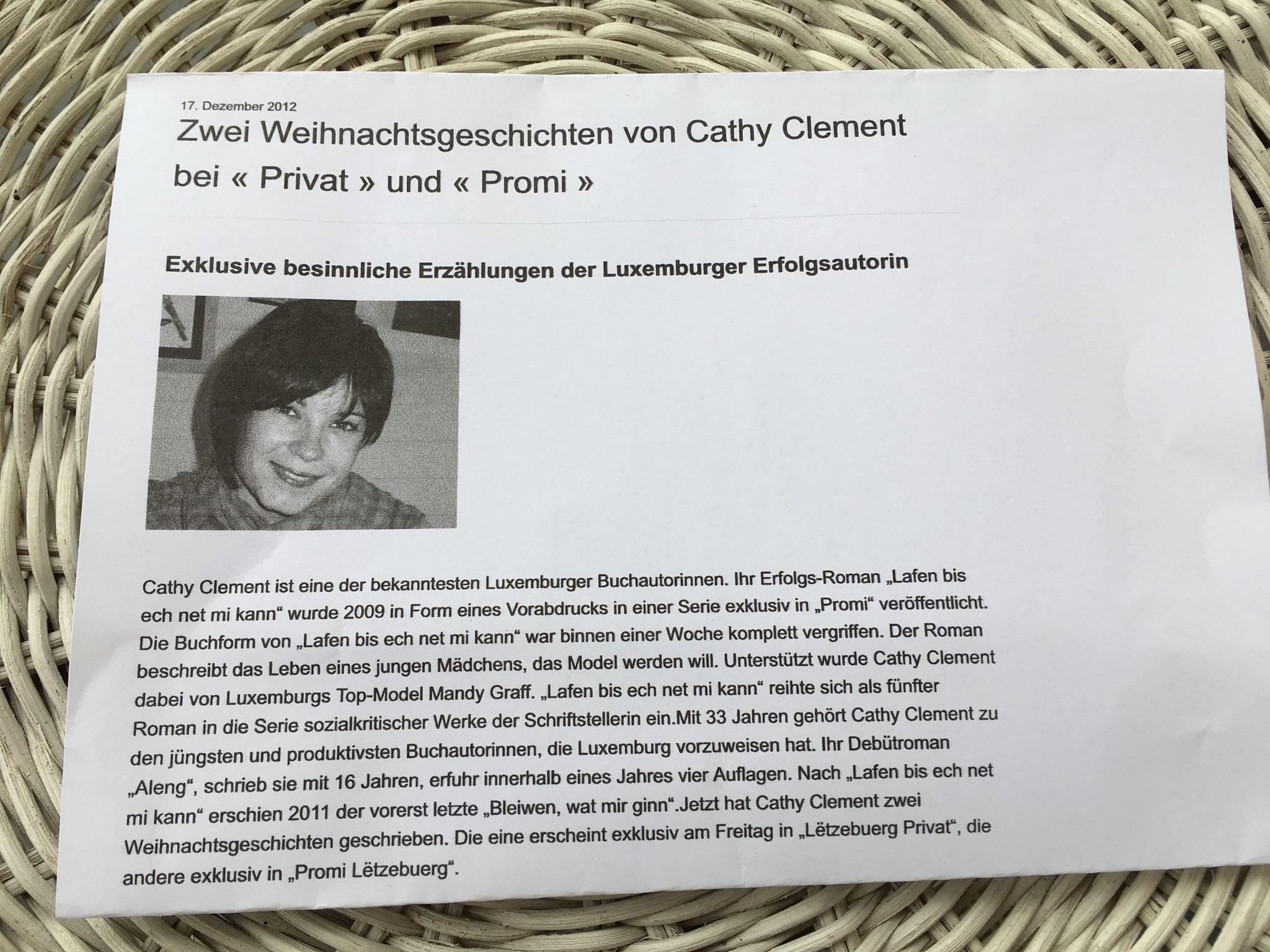 Weihnachtsgeschichten von Cathy Clement in Privat