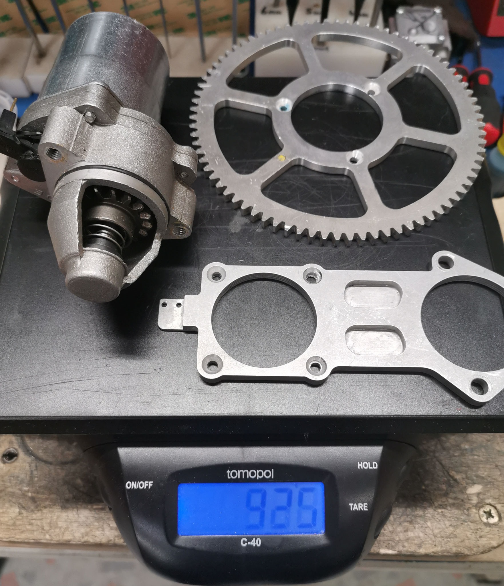 Gewicht original Anlasser-Kit 925 gr.